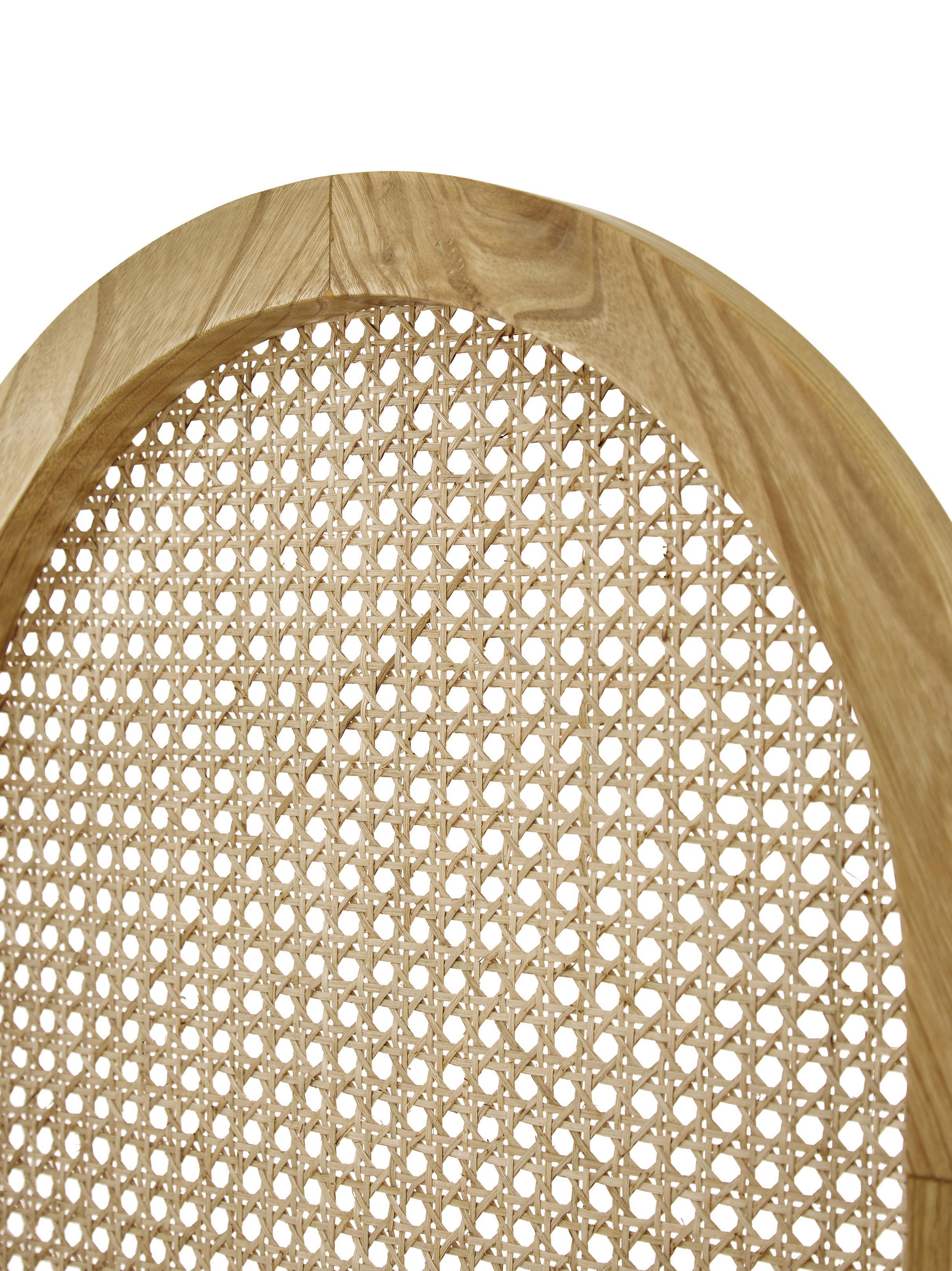 Paravent Webbing, Rahmen: Sungkai Holz, Wiener Geflecht: Zuckerrohr, Sungkai Holz, 150 x 180 cm
