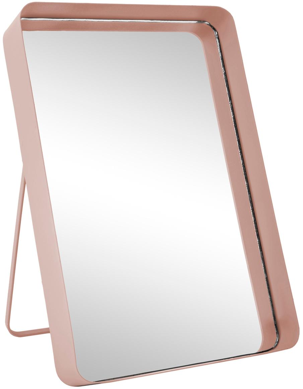 Specchio cosmetico Vogue, Cornice: metallo verniciato, Superficie dello specchio: lastra di vetro, Rosa, Larg. 22 x Alt. 33 cm