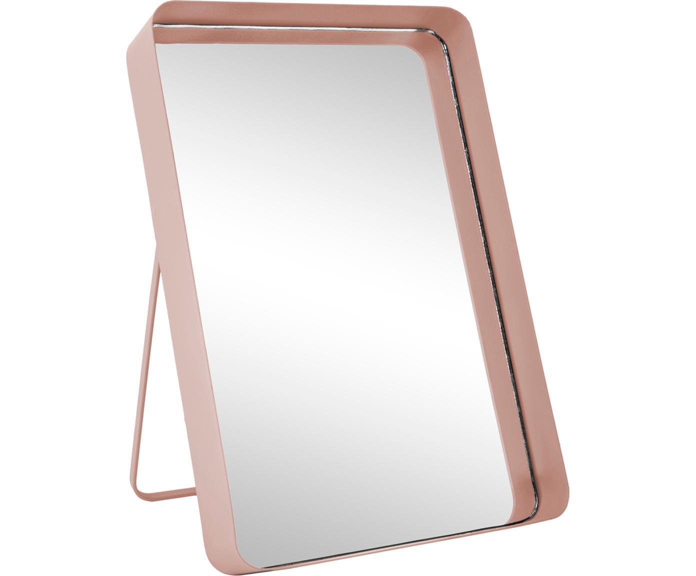 Kosmetikspiegel Vogue, Rahmen: Metall, lackiert, Spiegelfläche: Spiegelglas, Rosa, 22 x 33 cm