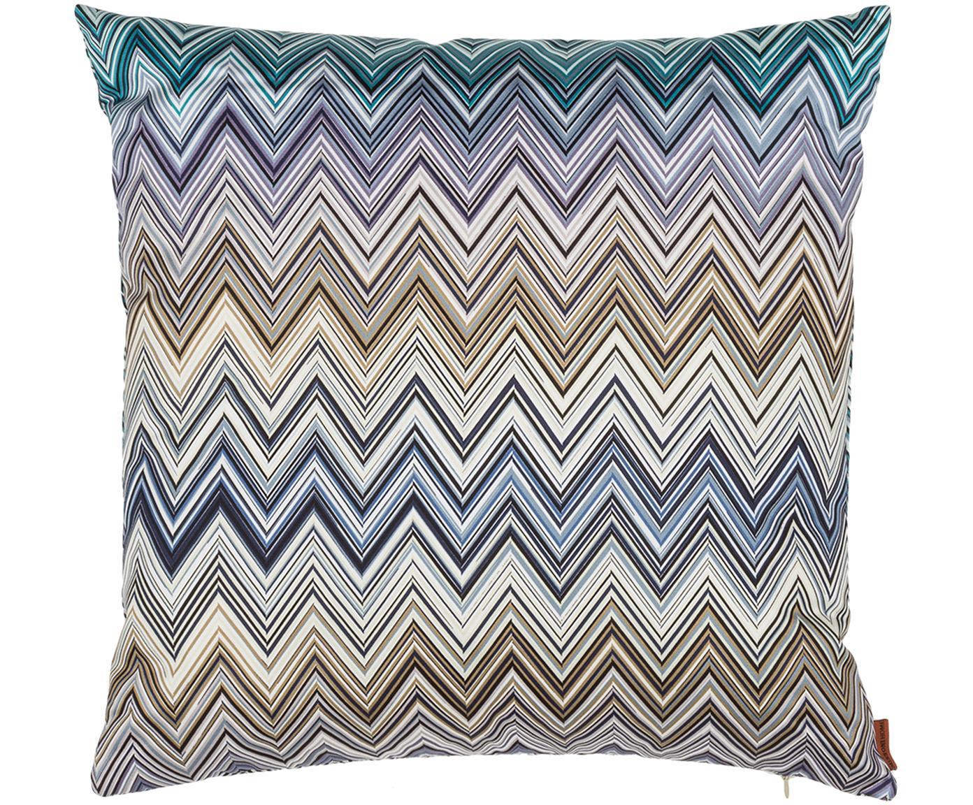 Cuscino in raso di cotone Jarris, Rivestimento: 100% cotone, Porpora, turchese, beige, Larg. 40 x Lung. 40 cm