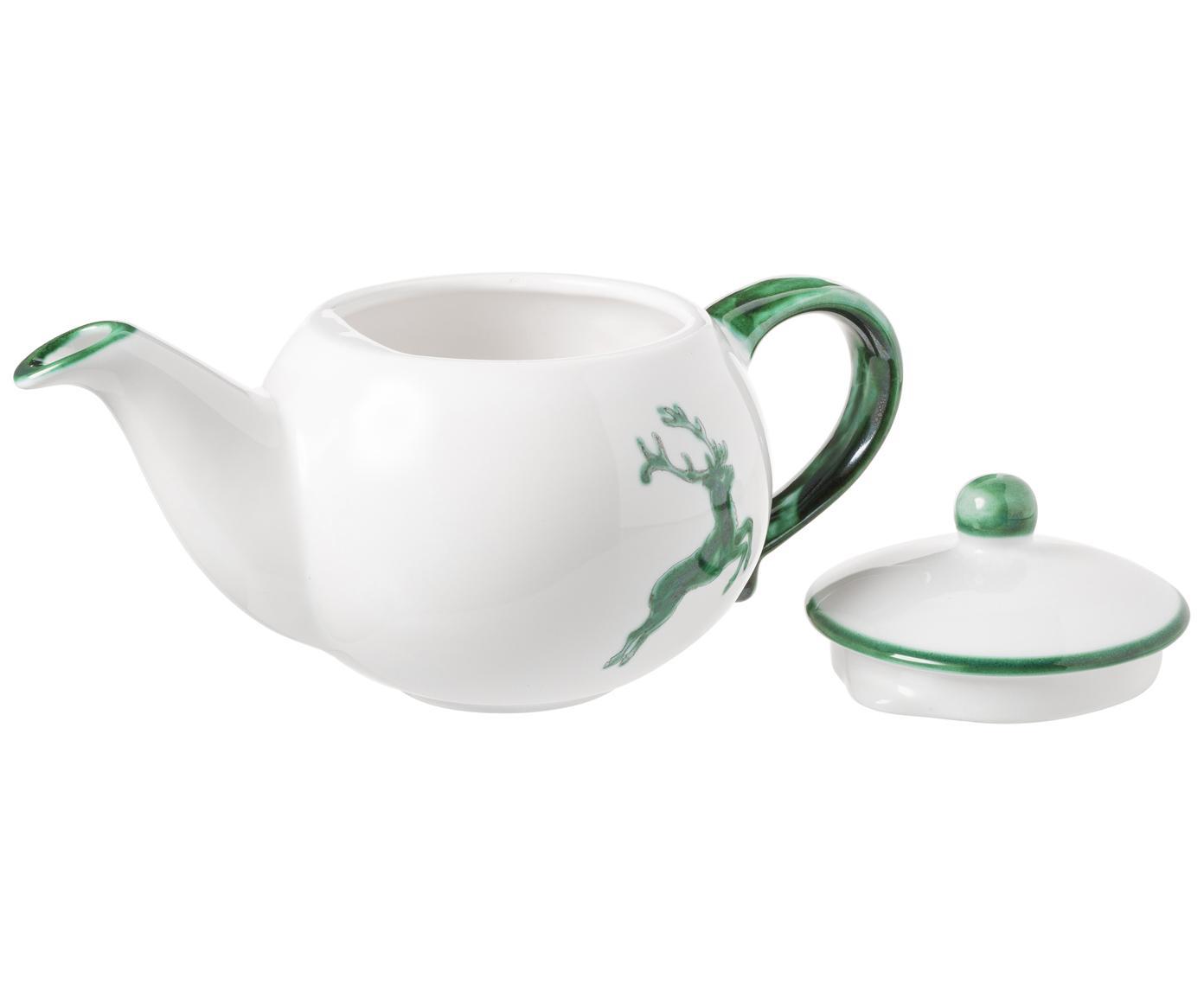 Czajnik Classic Grüner Hirsch, Ceramika, Zielony, biały, 500 ml