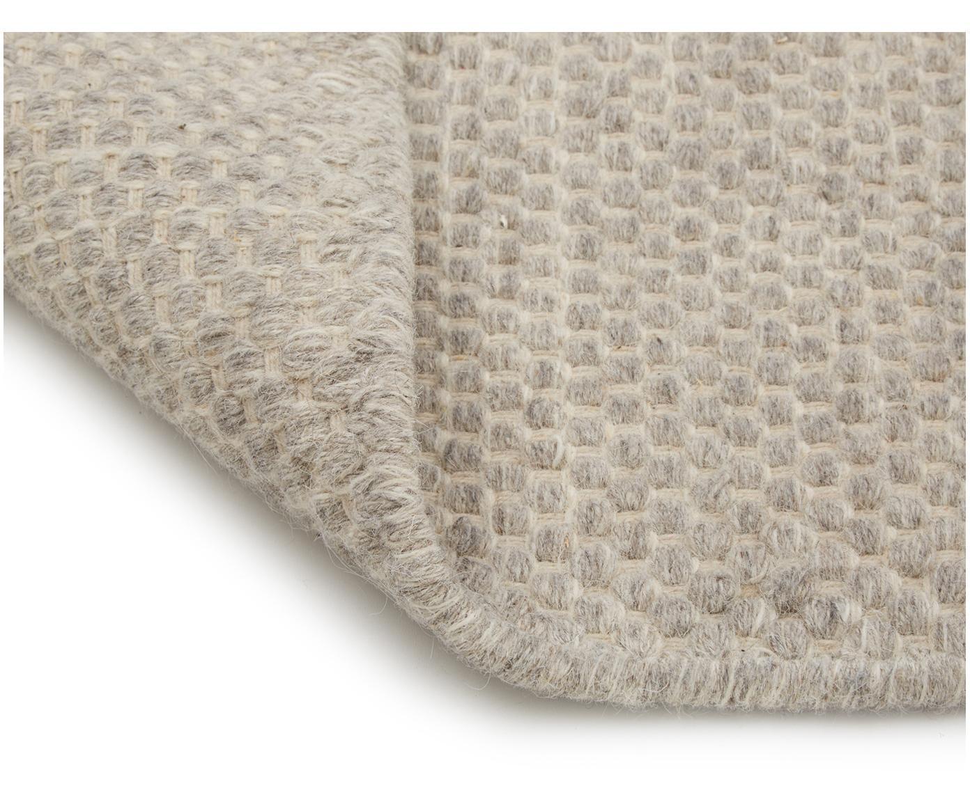 Handgewebter Kelimteppich Delight aus Wolle in Hellgrau, Hellgrau, B 200 x L 300 cm (Größe L)