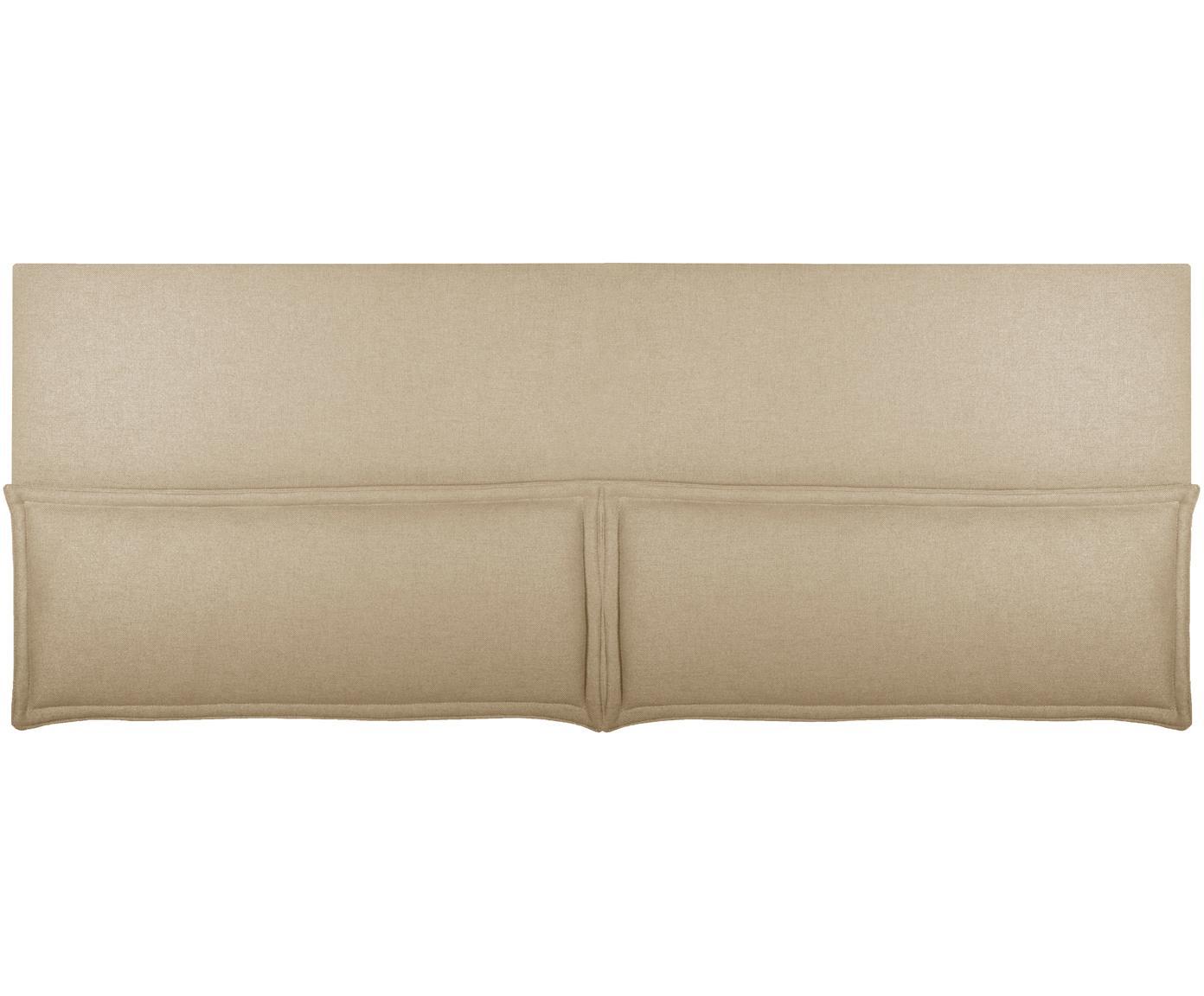 Cabecero Comfort, Estructura: madera de pino, madera co, Tapizado: 100%poliéster Alta resis, Beige, An 160 x Al 80 cm
