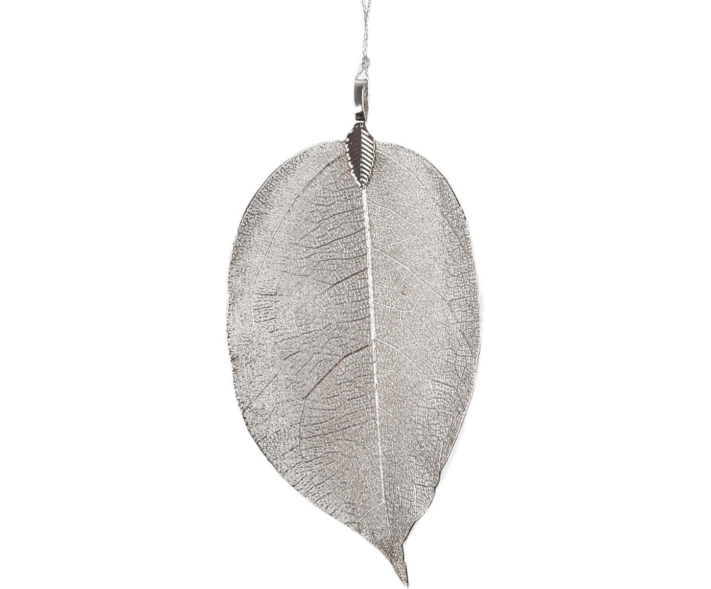Ciondolo Leava 4 pz, Argentato, Larg. 6 x Alt. 17 cm