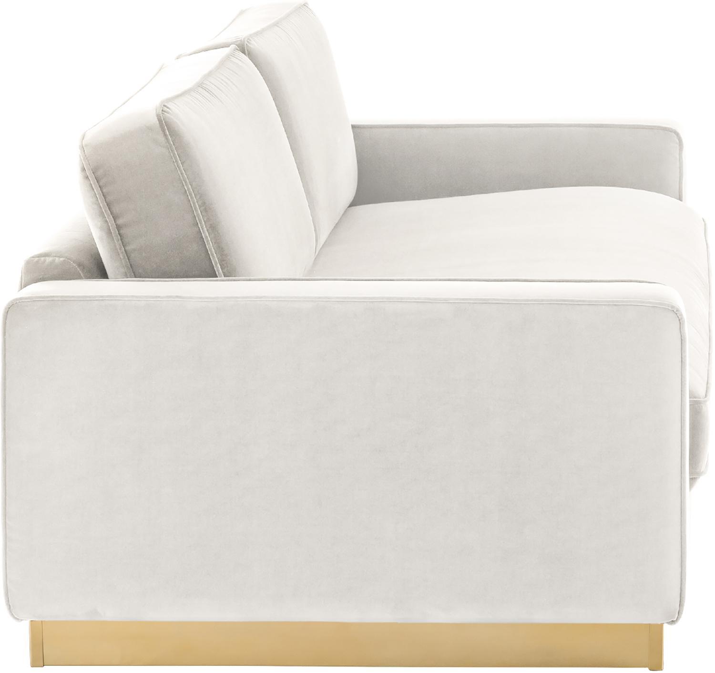 Samt-Sofa Chelsea (3-Sitzer), Bezug: Samt (Hochwertiger Polyes, Gestell: Massives Fichtenholz, Rahmen: Metall, beschichtet, Samt Hellgrau-Beige, 228 x 75 cm