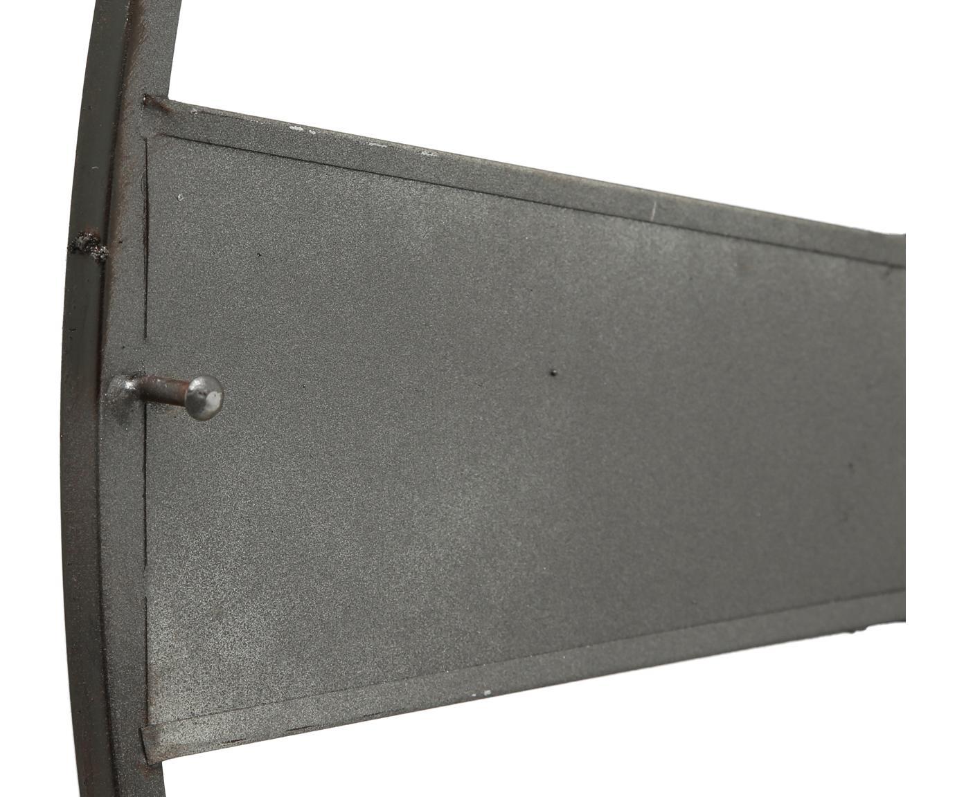 Orologio da parete Anatol, Metallo zincato, Zinco, nero, marrone, Ø 73 cm