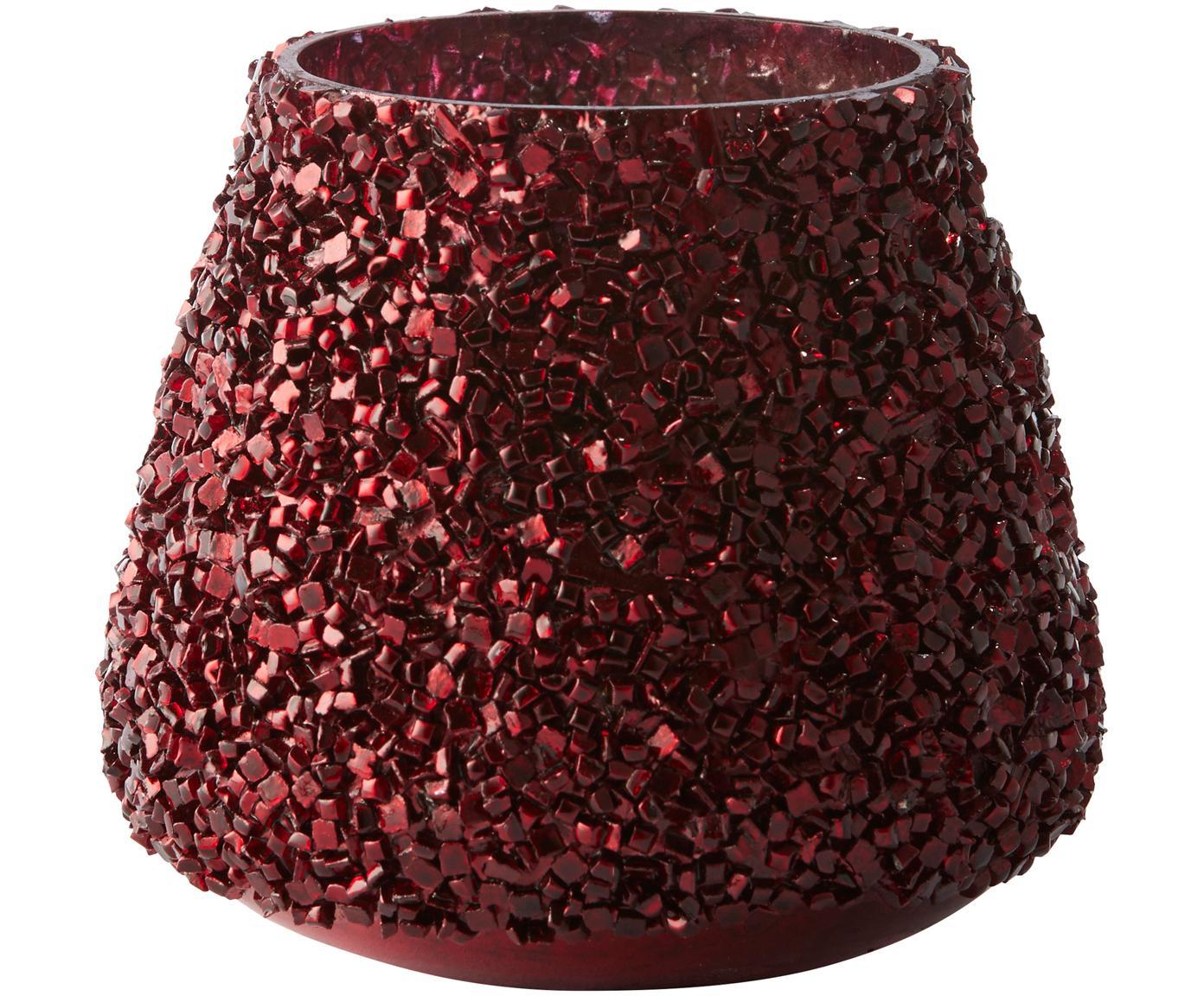 Teelicht Anolia, Glas, Dunkelrot, Ø 9 x H 8 cm