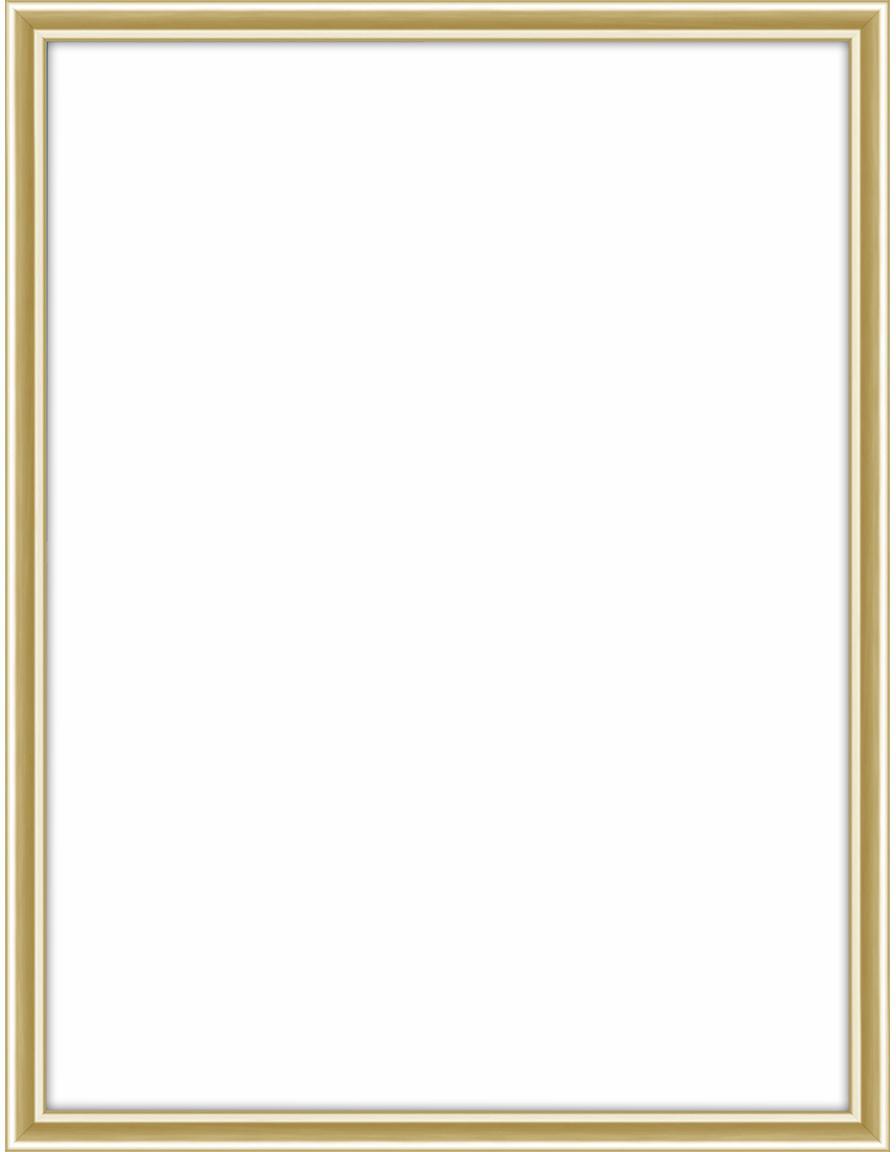Cornice dorata lucida Accent, Cornice: alluminio, rivestito, Retro: Pannello di fibra a media, Ottonato, 15 x 20 cm