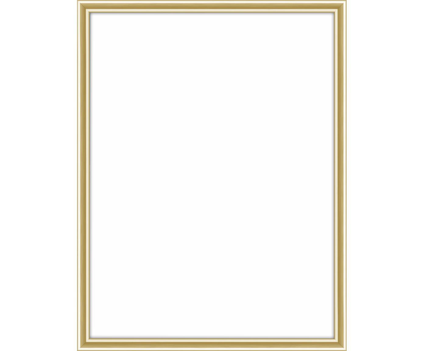 Bilderrahmen Accent, Rahmen: Aluminium, beschichtet, Front: Glas, Rückseite: Mitteldichte Holzfaserpla, Messingfarben, 15 x 20 cm