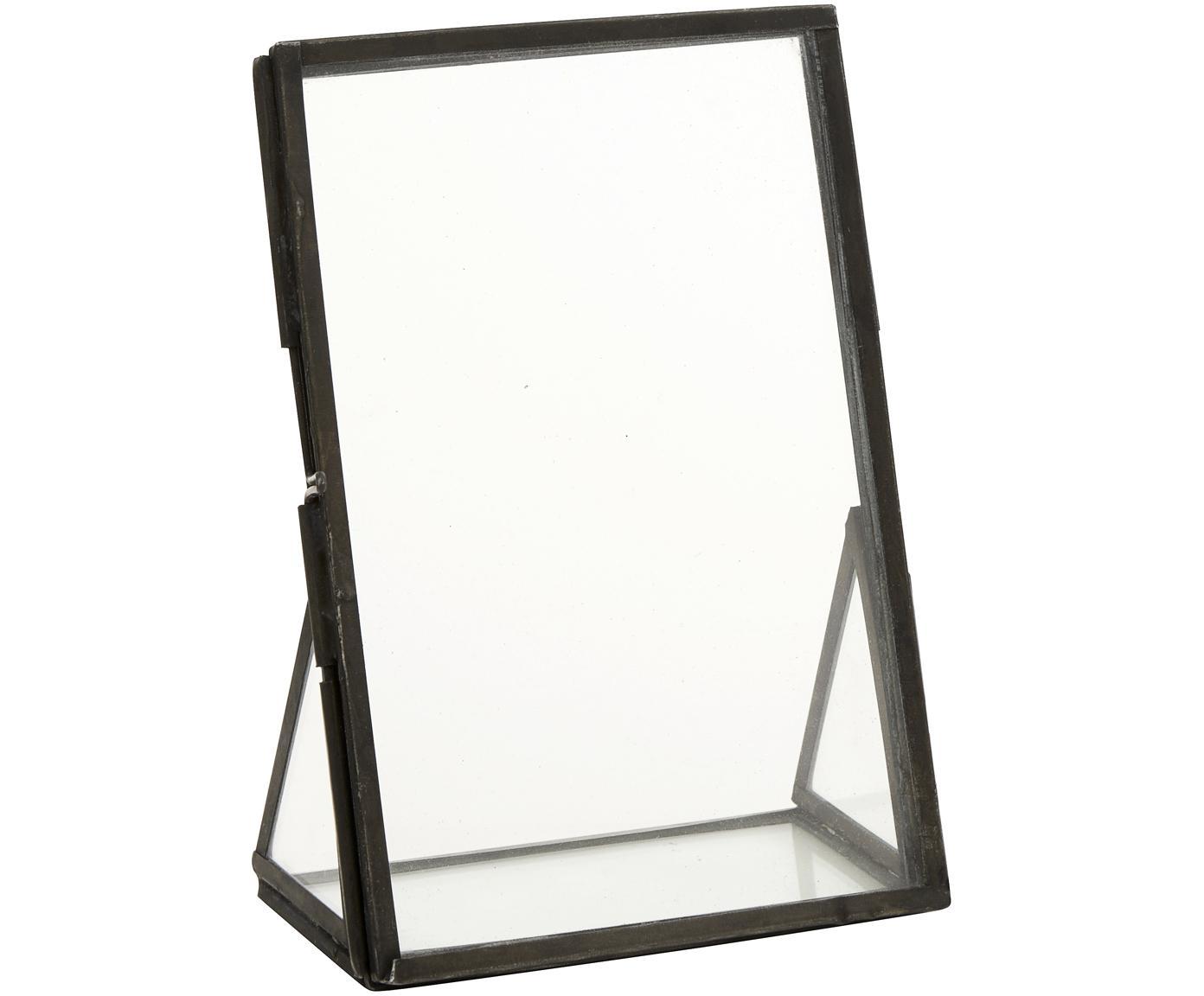 Cornice Mamun, Struttura: metallo, rivestito, Nero trasparente, 10 x 15 cm