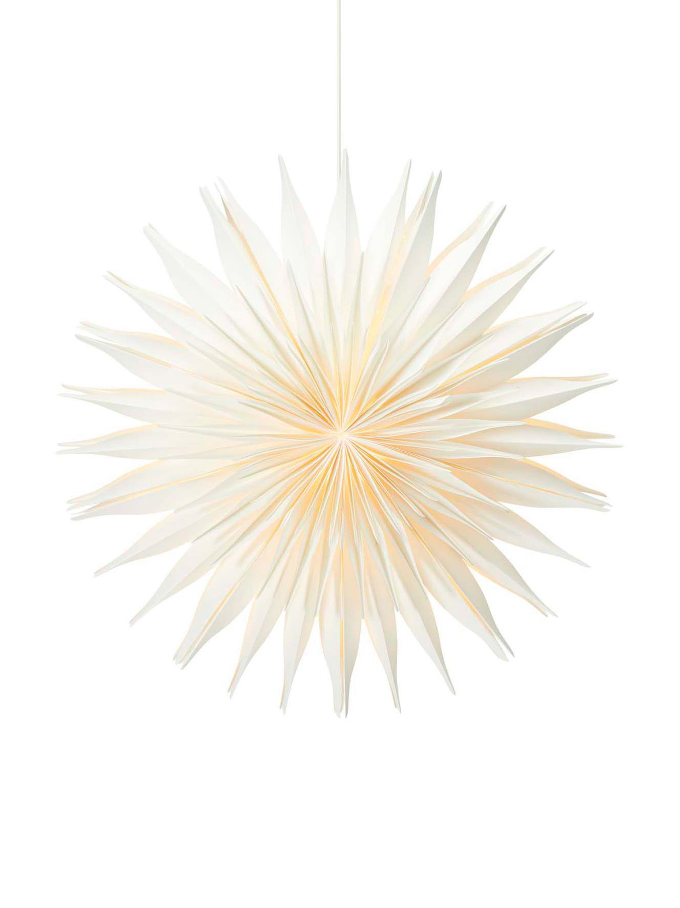 Estrella de Navidad Lovisa, Papel, Blanco, Ø 60 cm