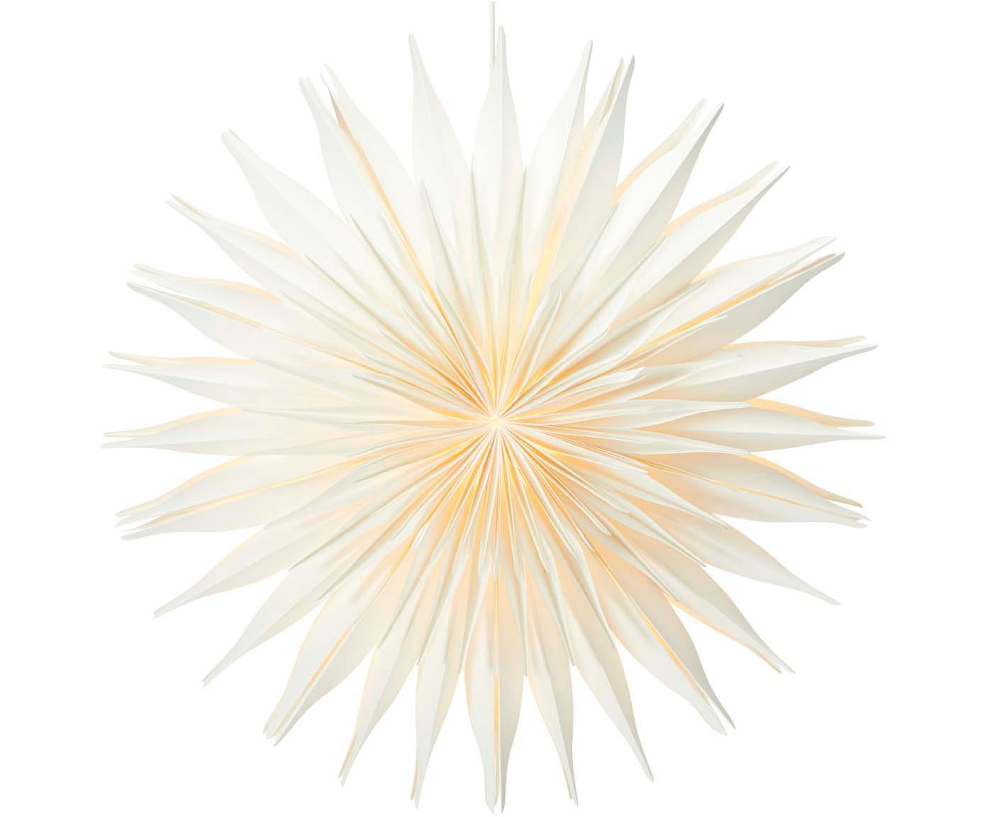 Gwiazda świąteczna Lovisa, Papier, Biały, Ø 60 cm