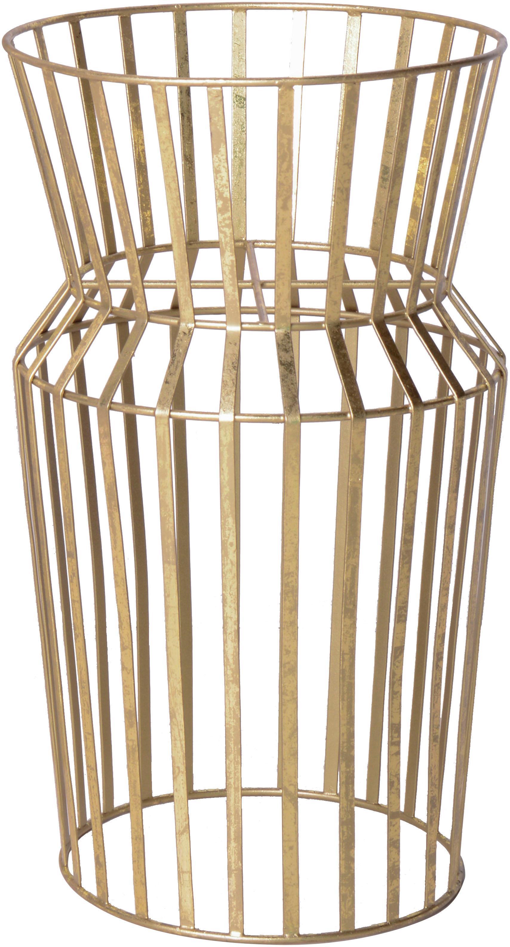Grote plantenpotstaander Gold van metaal, Gecoat metaal, Messingkleurig, Ø 28 x H 50 cm