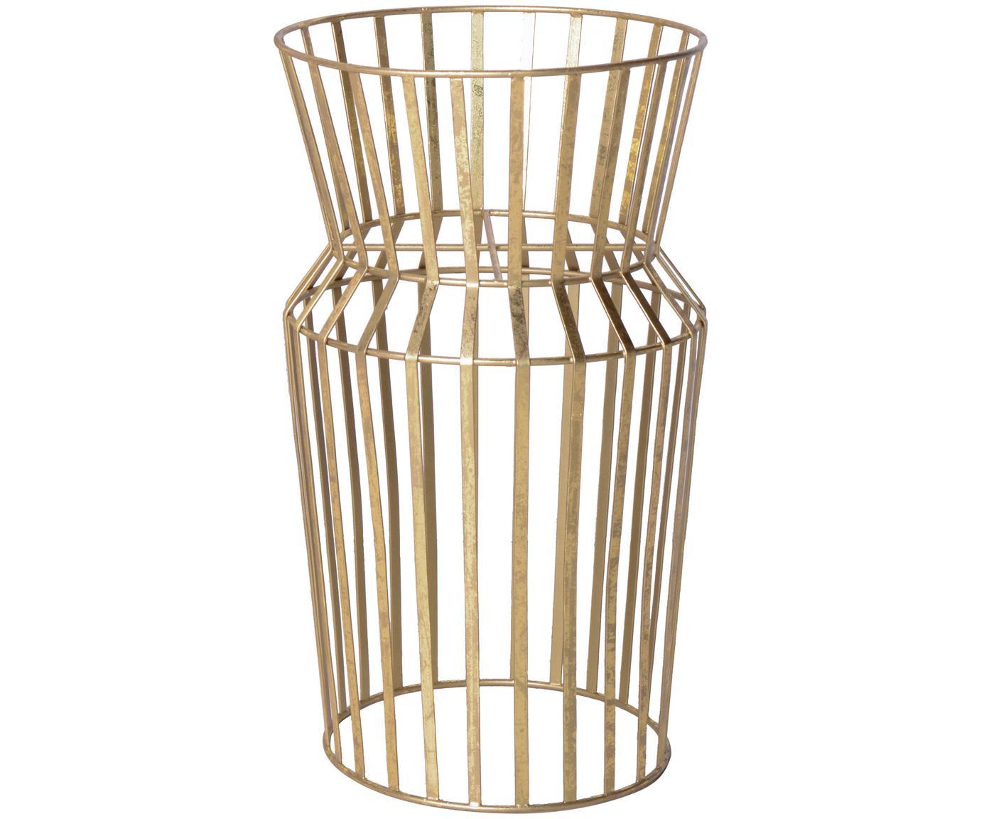 Stojak na doniczkę Gold, Metal powlekany, Odcienie mosiądzu, Ø 28 x W 50 cm