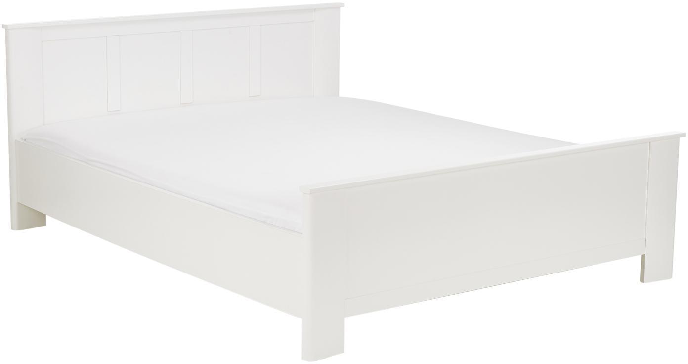 Weisses Holzbett Chalet, Spanplatte, foliert, Weiss, 160 x 200 cm