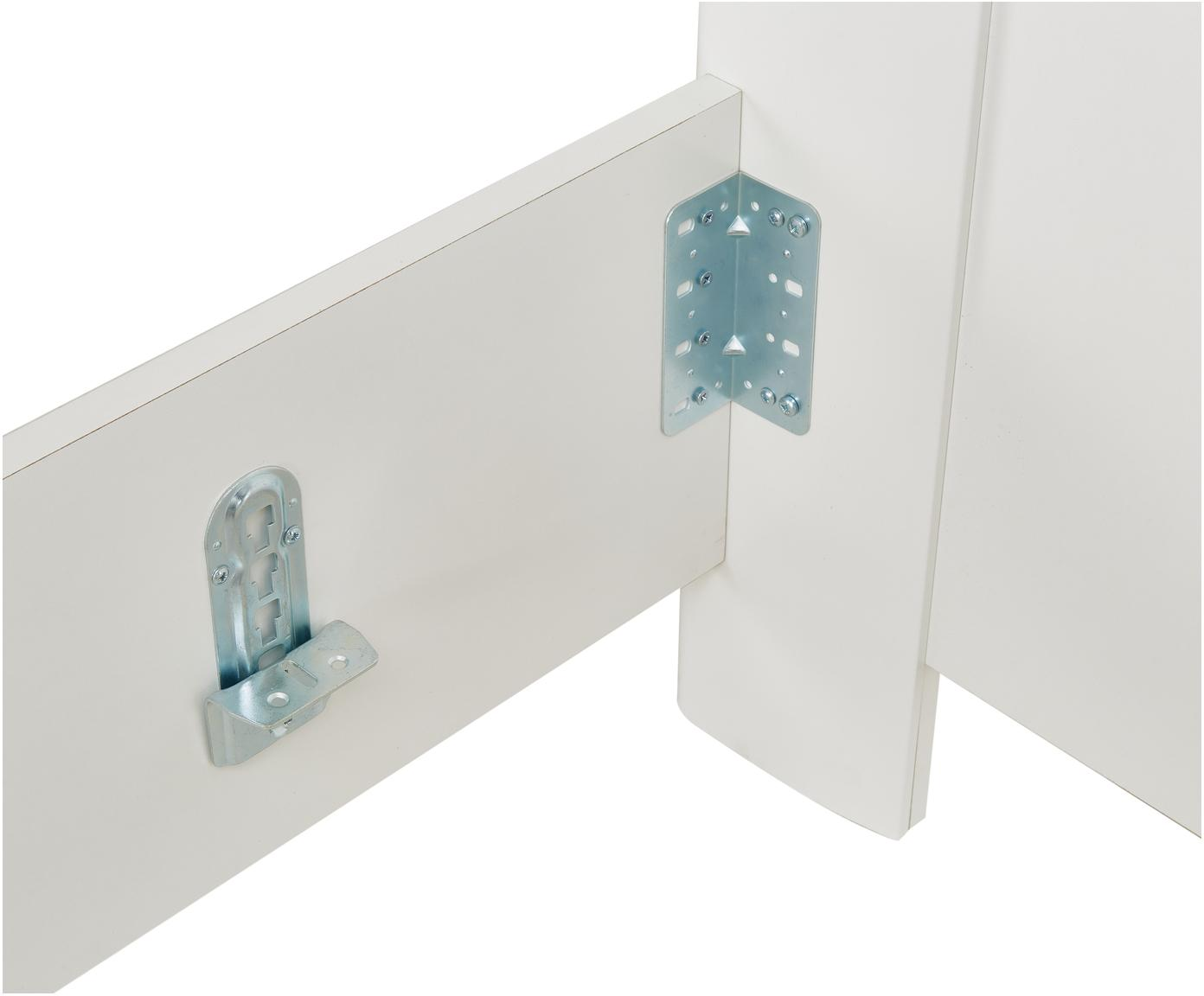Weißes Holzbett Chalet, Spanplatte, foliert, Weiß, 160 x 200 cm