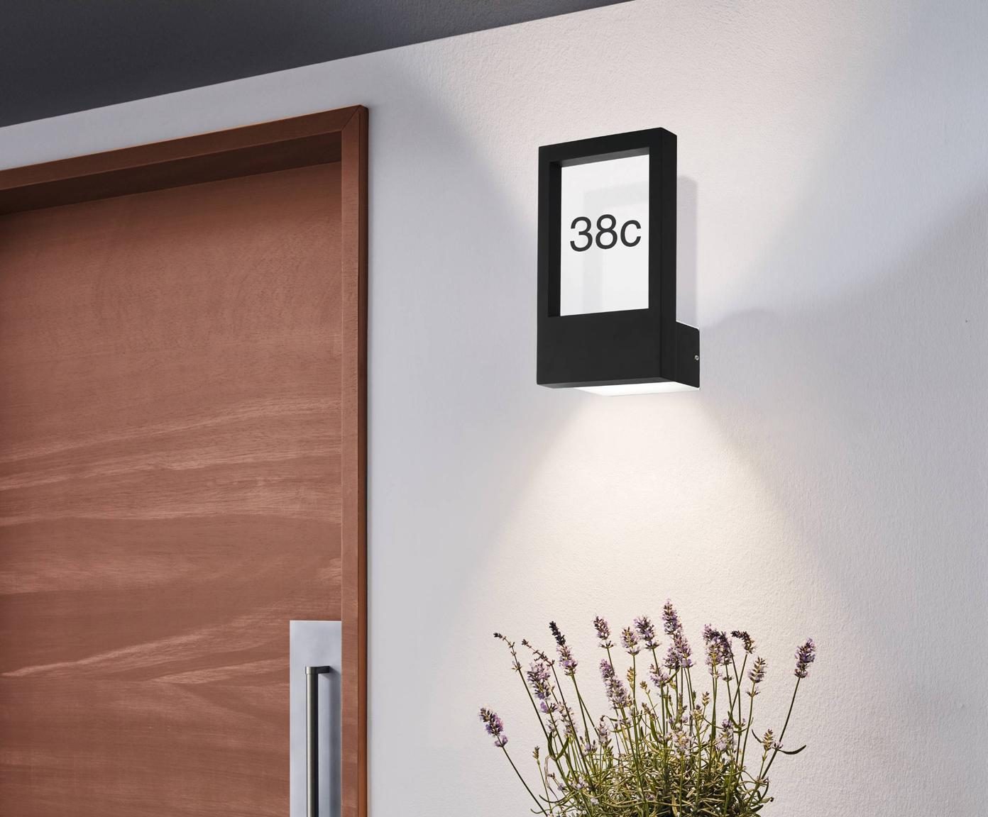 Oświetlenie numeru domu Monteros, Antracytowy, S 25 x W 34 cm