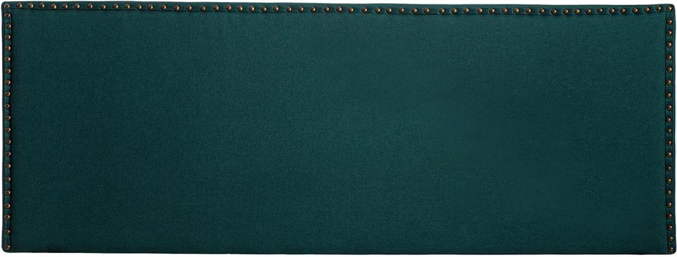 Cabecero Xenia, Tapizado: poliéster, lino, Estructura: madera de eucalipto, made, Verde, An 160 x Al 60 cm