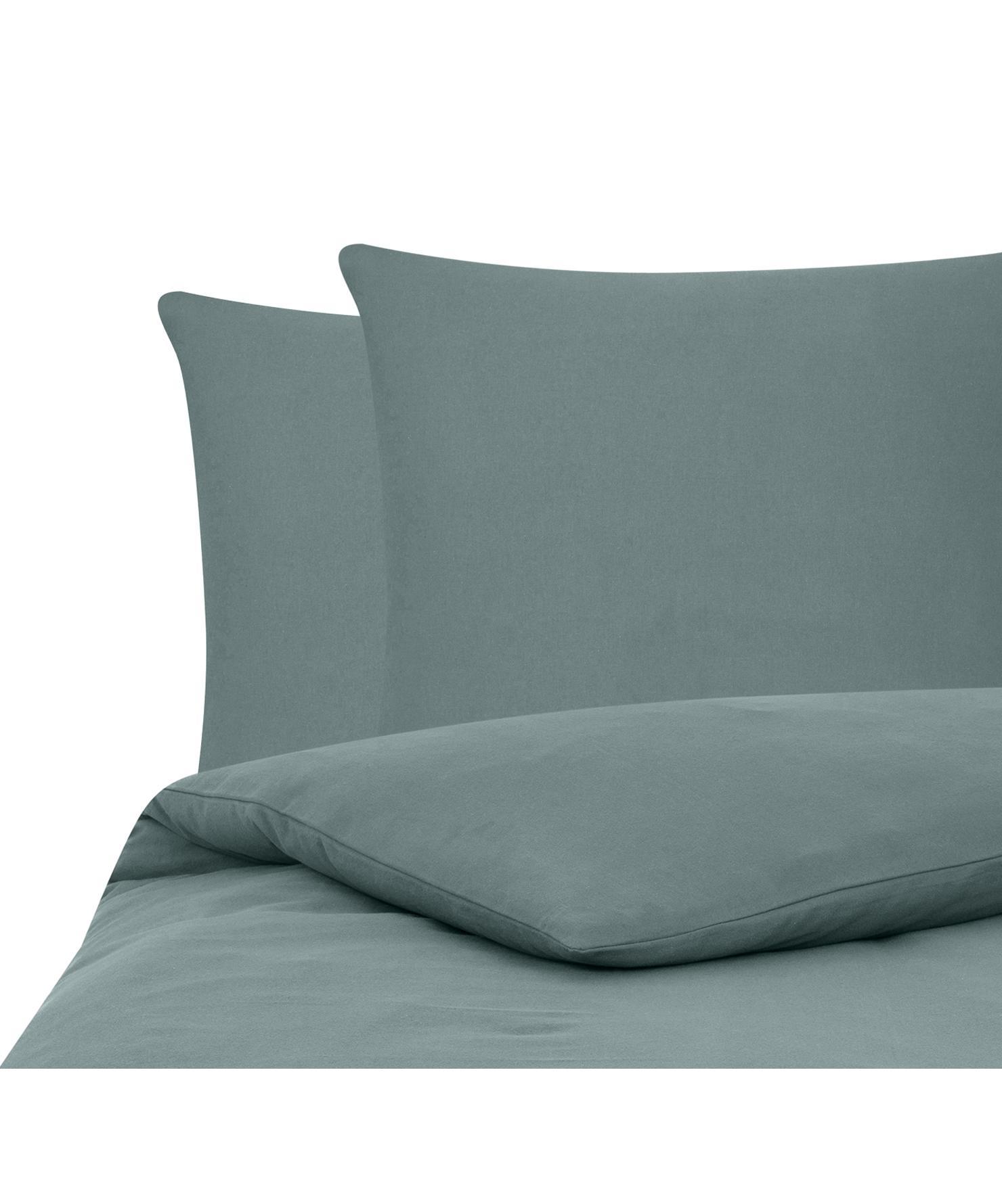 Flanell-Bettwäsche Biba in Grün, Webart: Flanell Flanell ist ein s, Grün, 200 x 200 cm + 2 Kissen 80 x 80 cm
