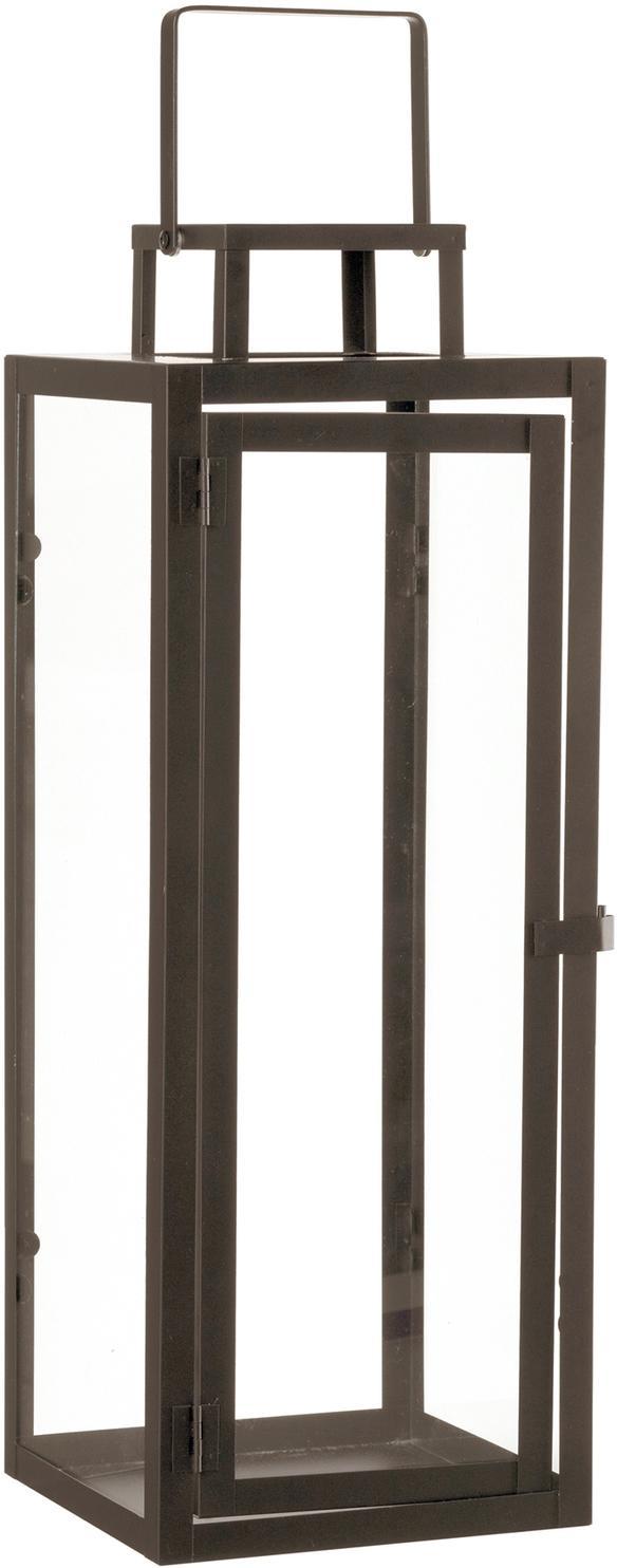 Lanterna Ragara, Cornice: metallo rivestito, Marrone, Larg. 19 x Alt. 50 cm