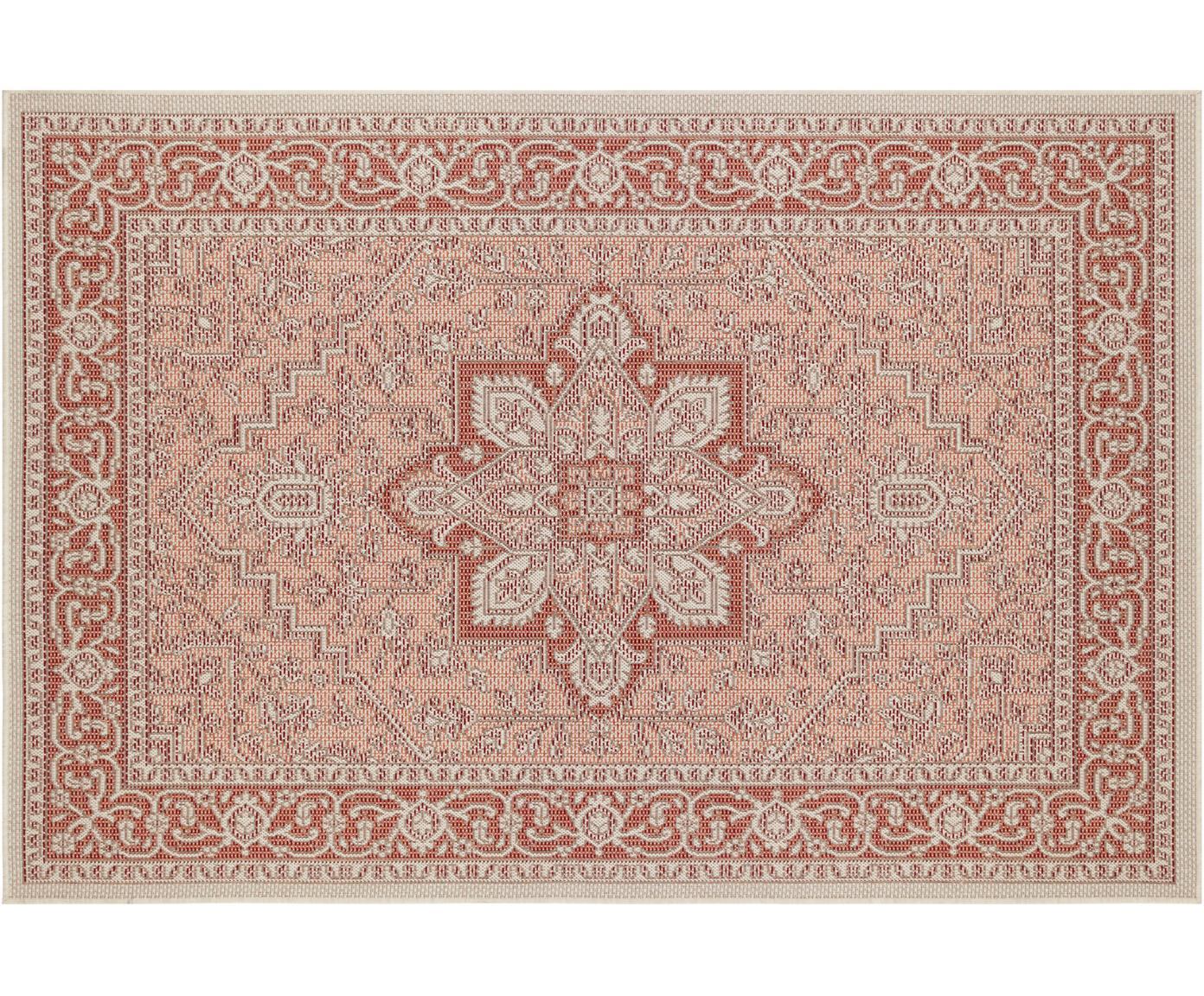 In- & Outdoor-Teppich Anjara im Vintage Style, 100% Polypropylen, Terrakottarot, Beige, B 160 x L 230 cm (Größe M)