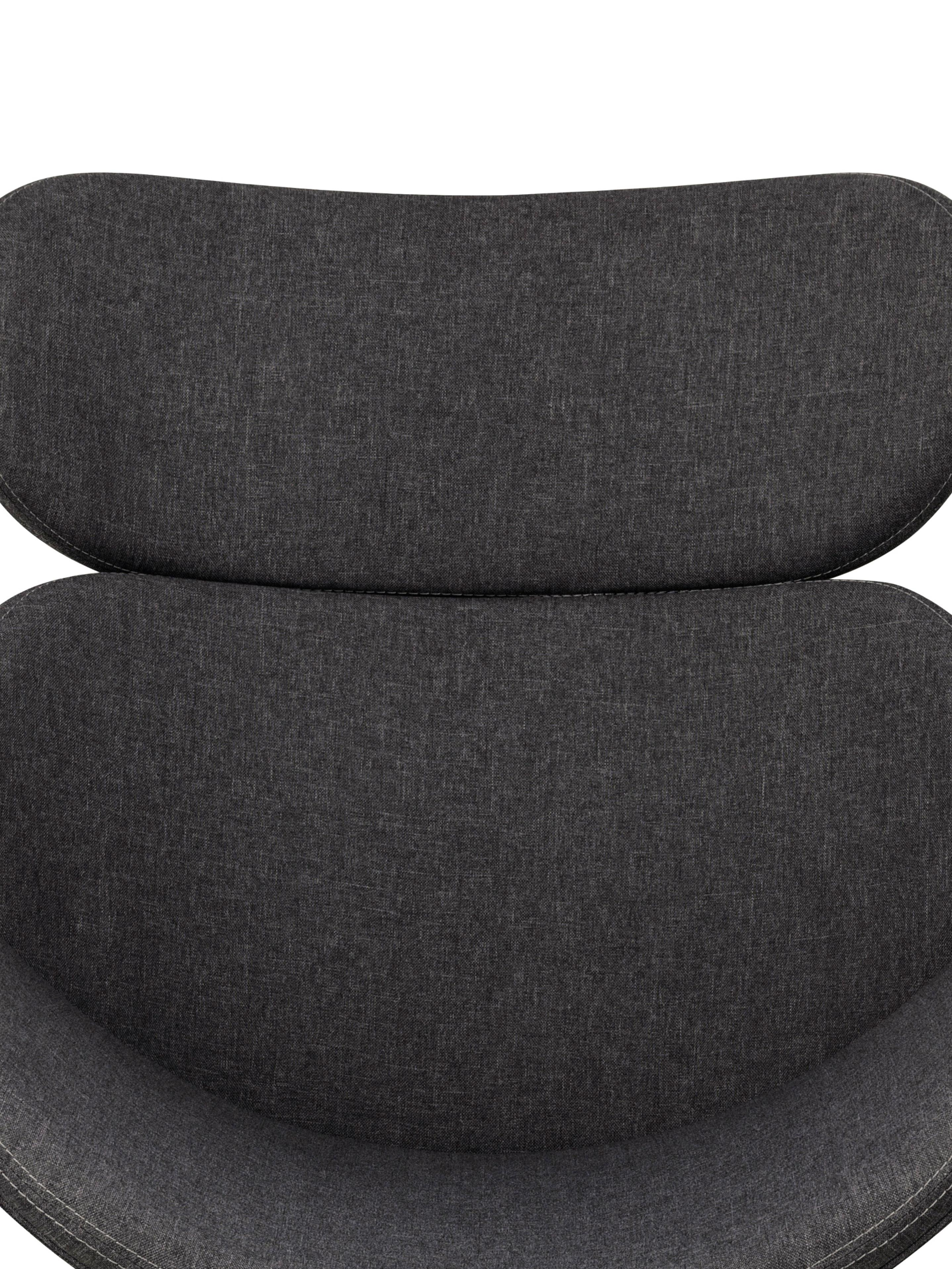 Moderner Loungesessel Cazar in Dunkelgrau, Bezug: Polyester, Gestell: Metall, pulverbeschichtet, Webstoff Dunkelgrau, B 69 x T 79 cm