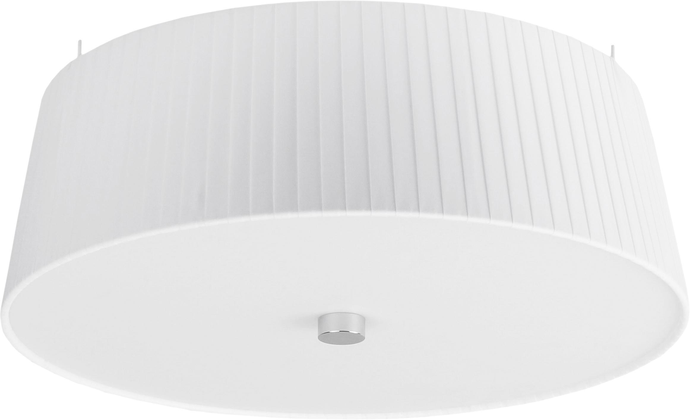 Lampa sufitowa Kami, Klosz: biały Dyfuzor: biały, Ø 36 x W 12 cm