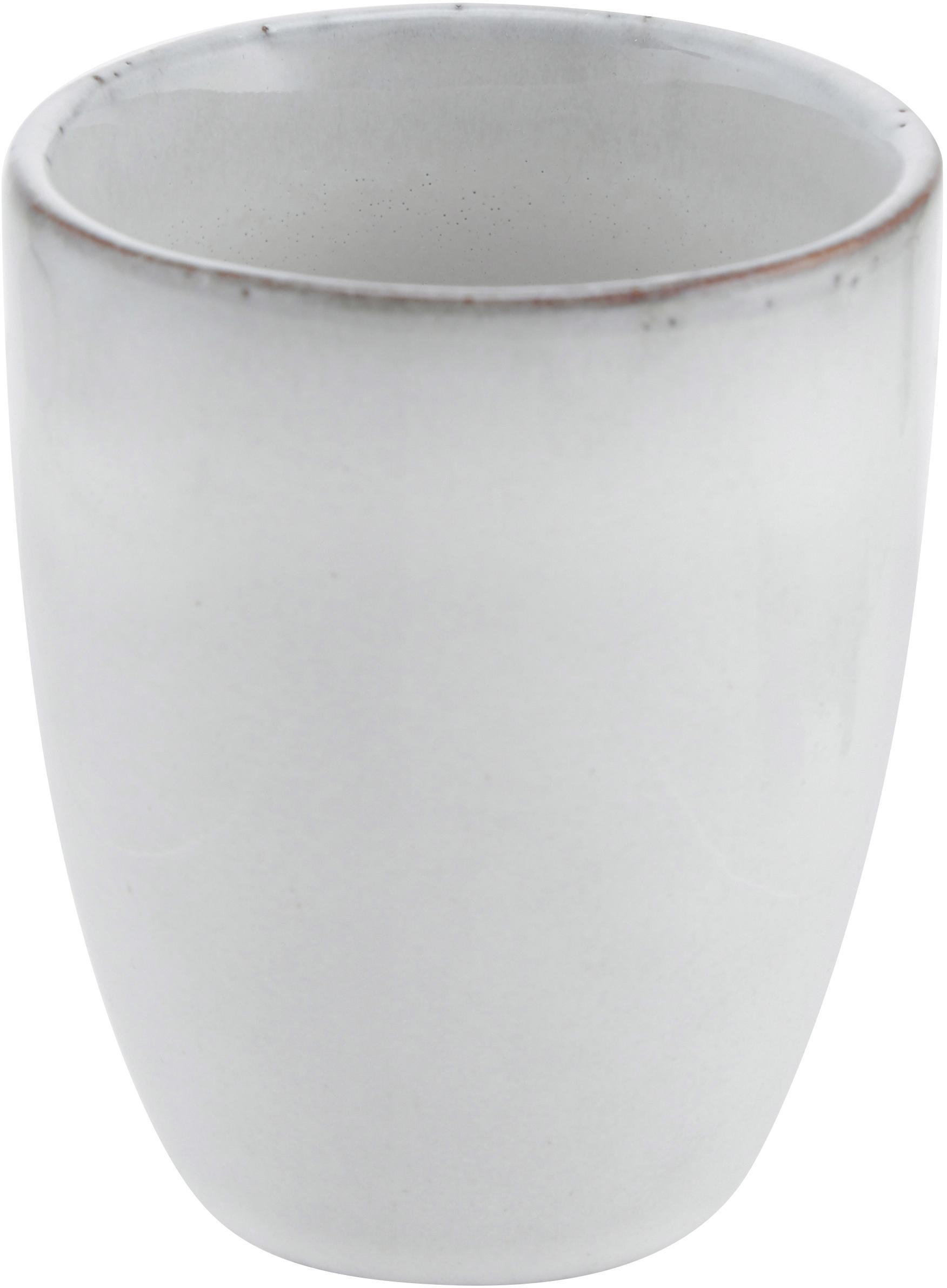 Tazas de café artesanales Nordic Sand, 6uds., Gres, Arena, Ø 7 x Al 8 cm