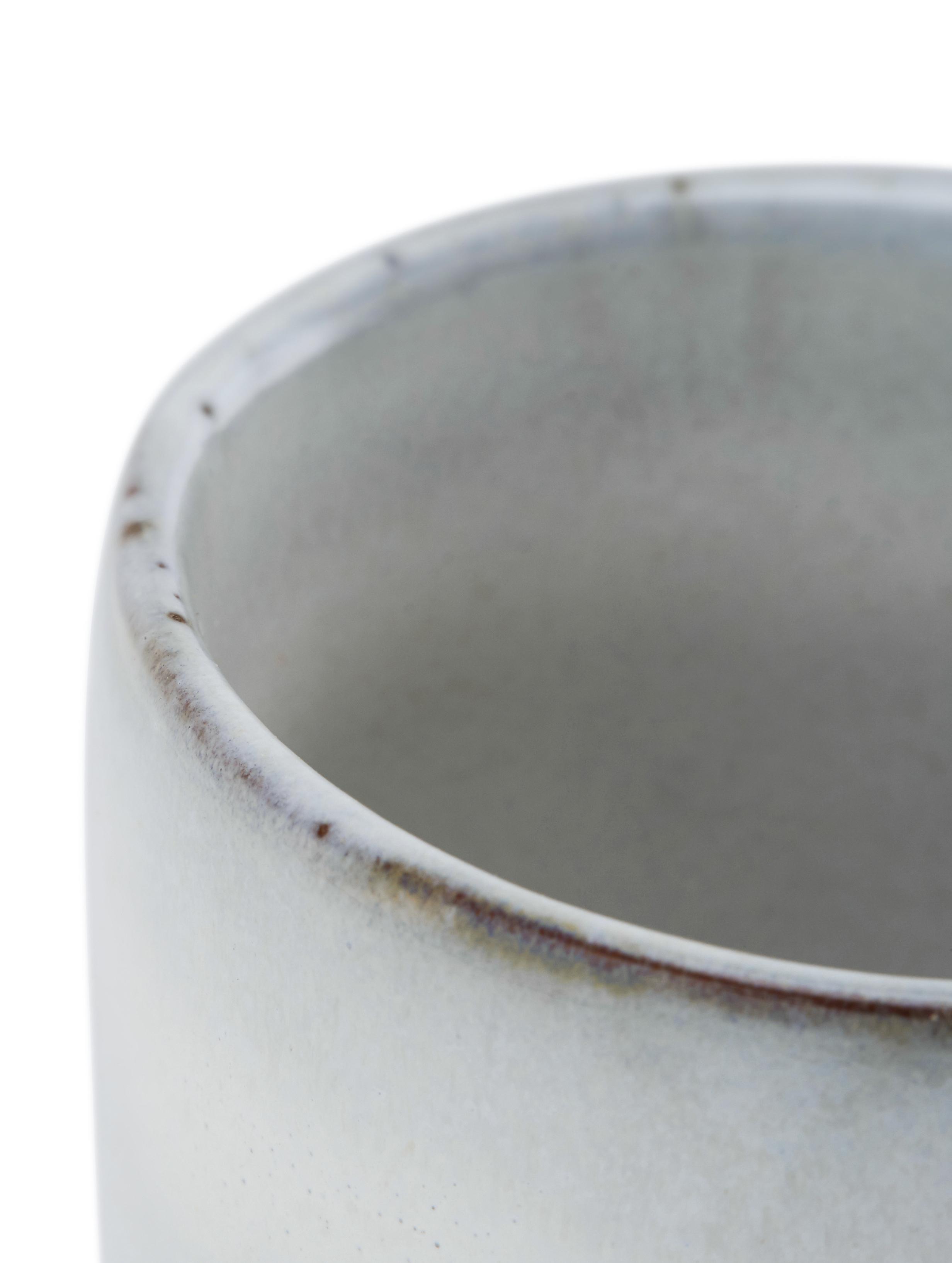 Handgemachte Espressobecher Nordic Sand aus Steingut, 6 Stück, Steingut, Sand, Ø 7 x H 8 cm