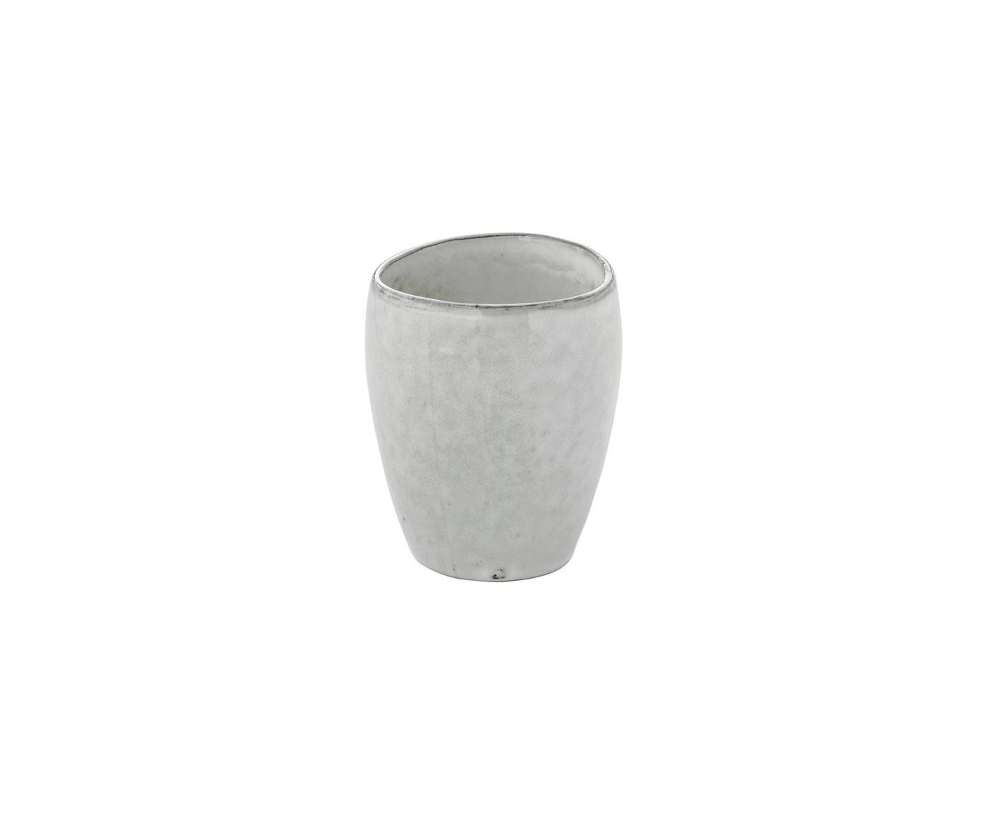 Ręcznie wykonana filiżanka do espresso Nordic Sand, 6 szt., Kamionka, Piaskowy, Ø 7 x W 8 cm