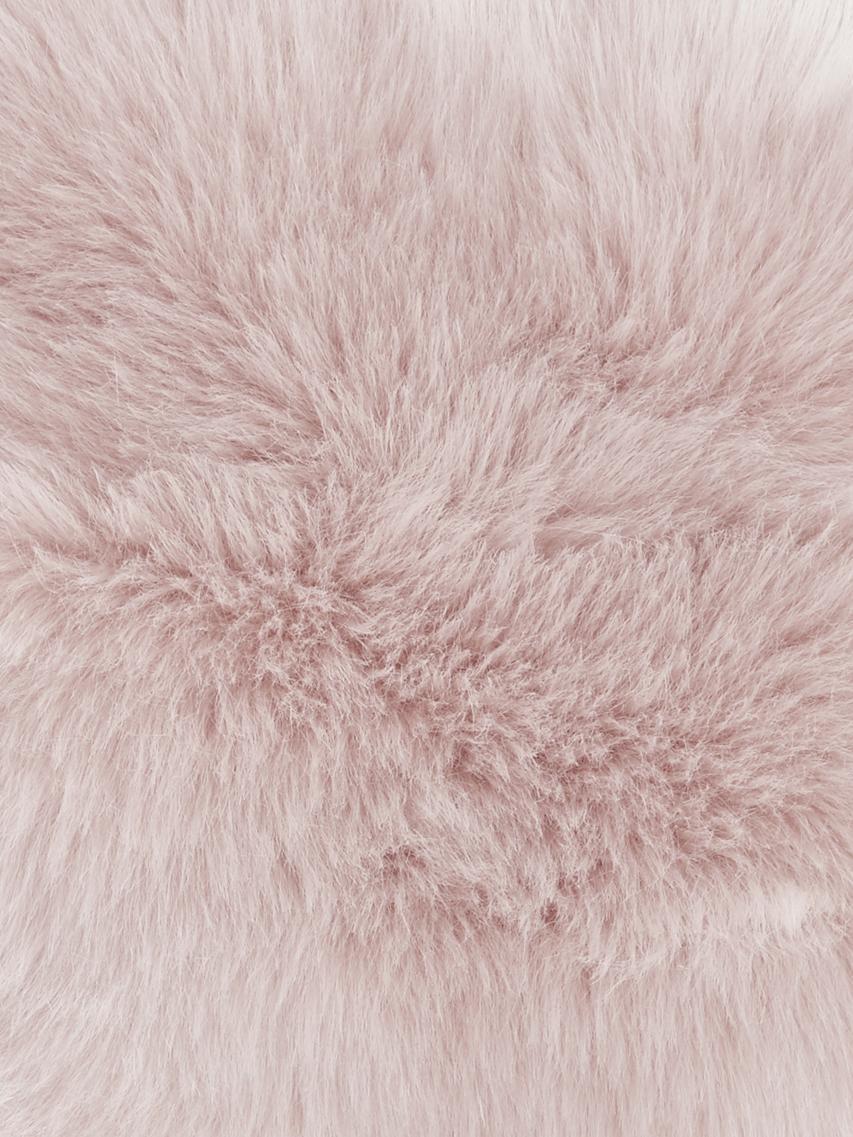 Flauschige Kunstfell-Kissenhülle Mathilde, glatt, Vorderseite: 67% Akryl, 33% Polyester, Rückseite: 100% Polyester, Rosa, 30 x 50 cm