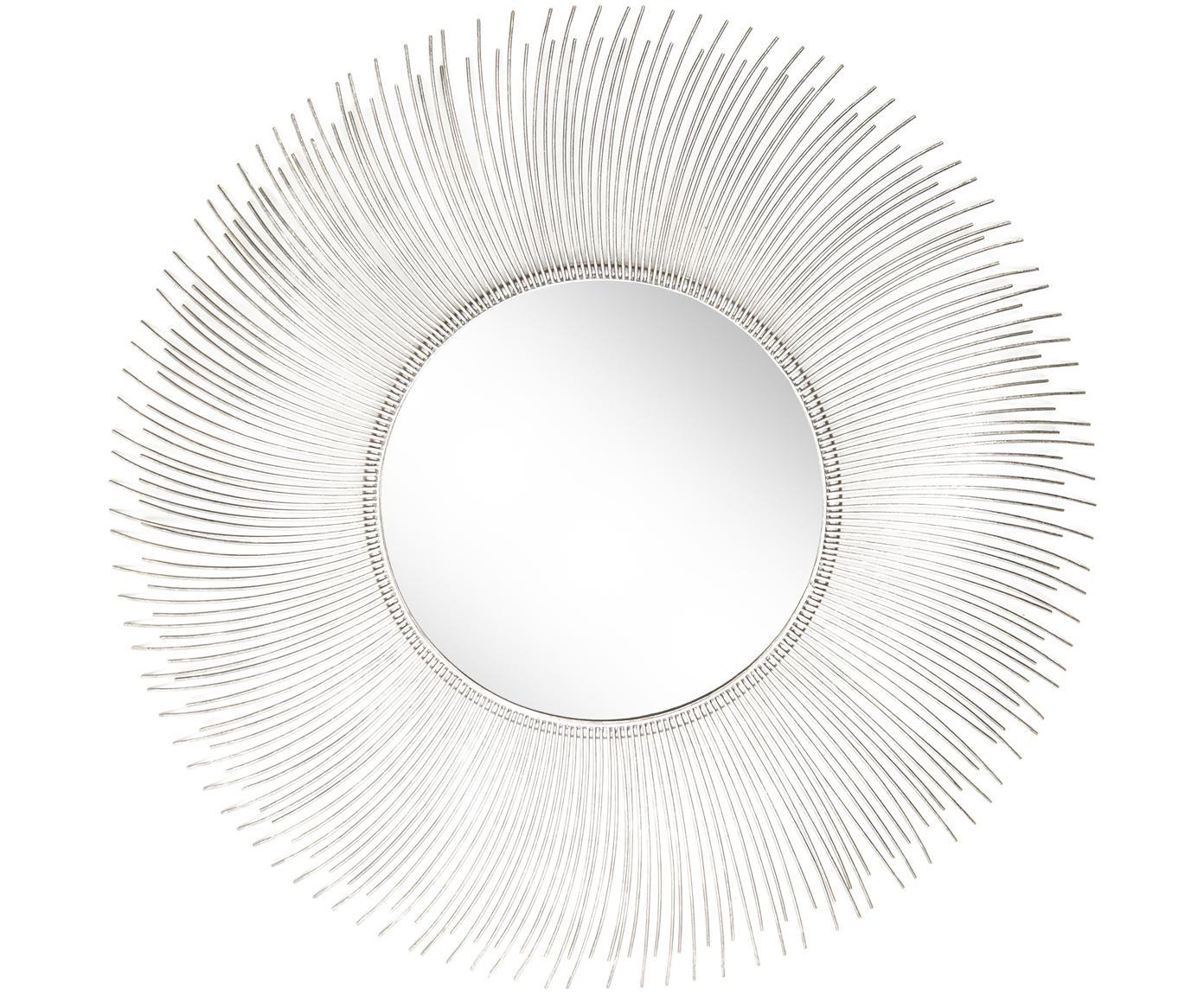 Wandspiegel Lilly, Frame: metaal, Zilverkleurig, Ø 90 cm