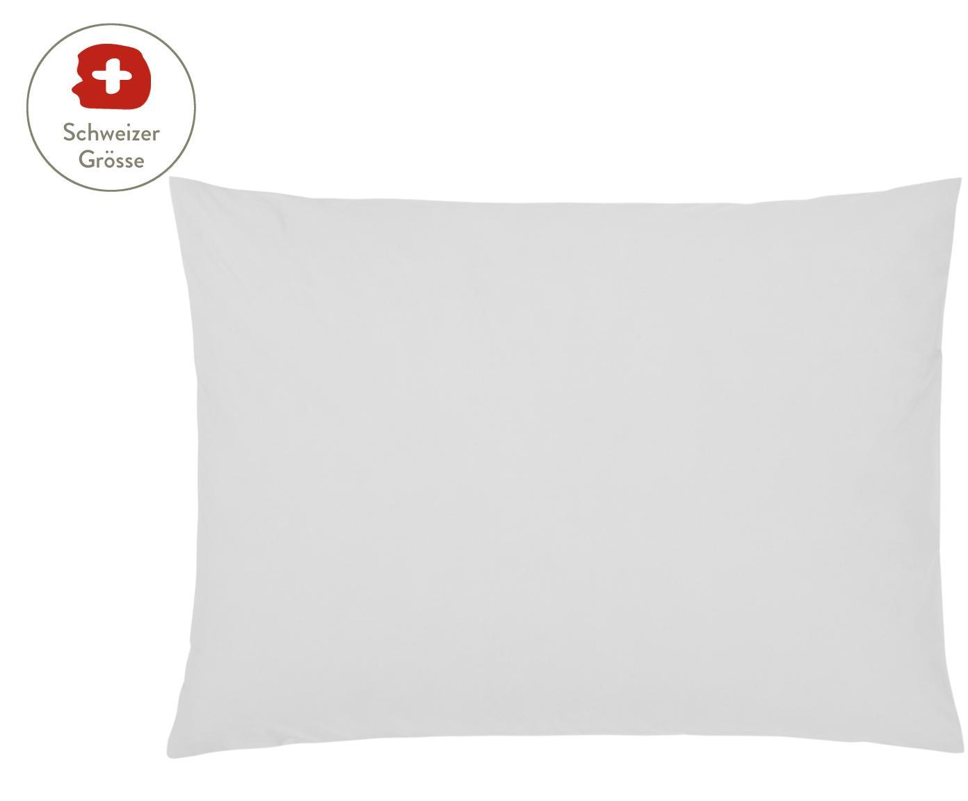 Baumwollperkal-Kissenbezug Elsie in Hellgrau, Webart: Perkal Fadendichte 200 TC, Hellgrau, 50 x 70 cm