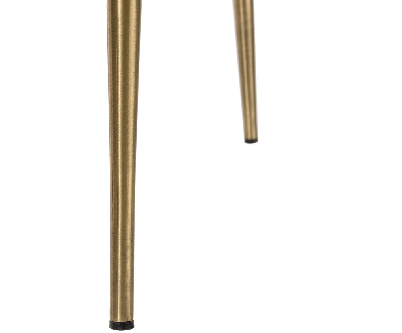 Krzesło tapicerowane z aksamitu Tess, Tapicerka: aksamit (poliester) 3000, Nogi: metal malowany proszkowo, Aksamitny szary, złoty, S 49 x G 64 cm