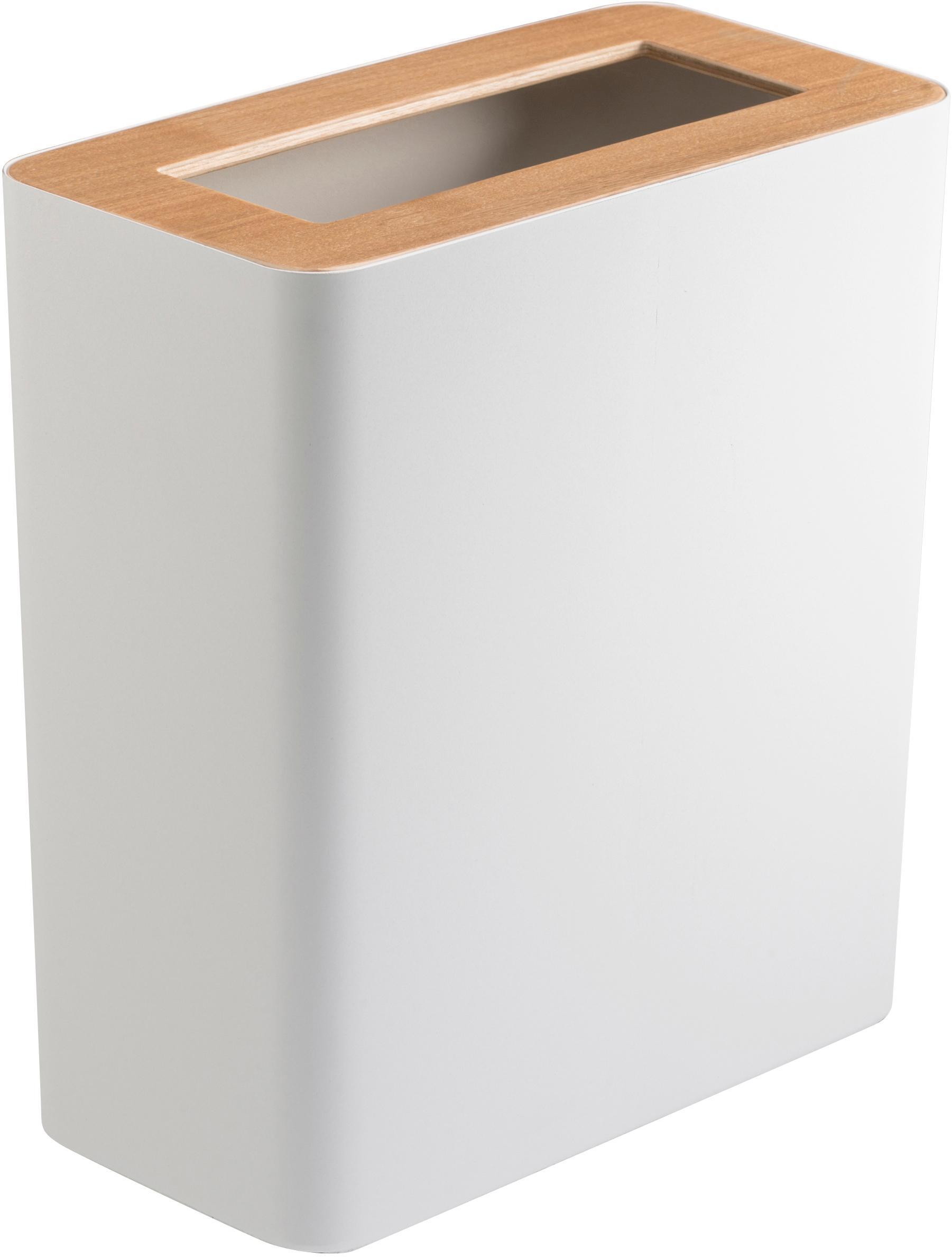 Kosz na śmieci Rin z lakierowanej stali, Czarny, ciemnobrązowy, S 28 x W 30 cm