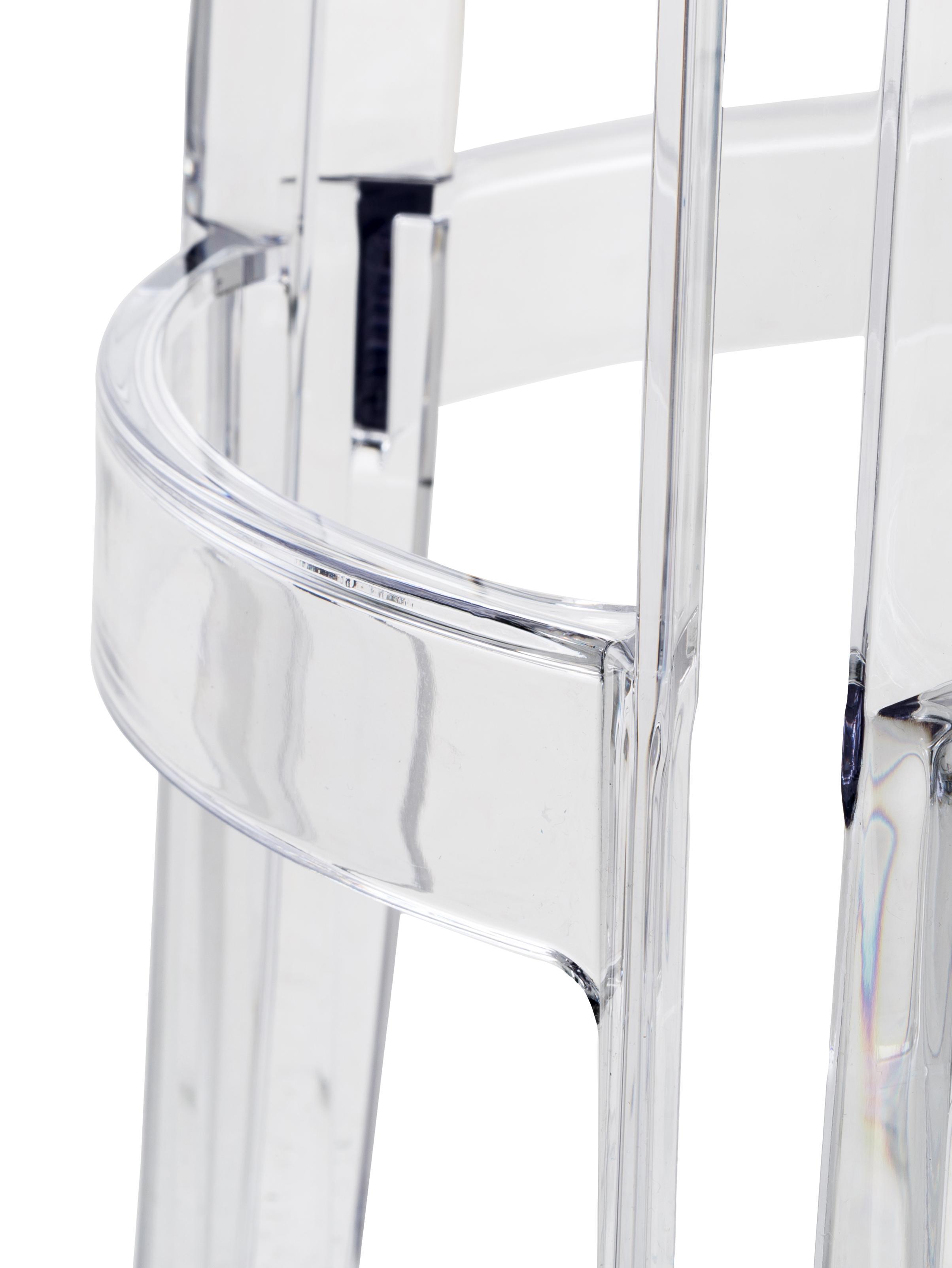 Transparenter Thekenhocker Ghost, Polykarbonat, Transparent, Ø 46 x H 65 cm