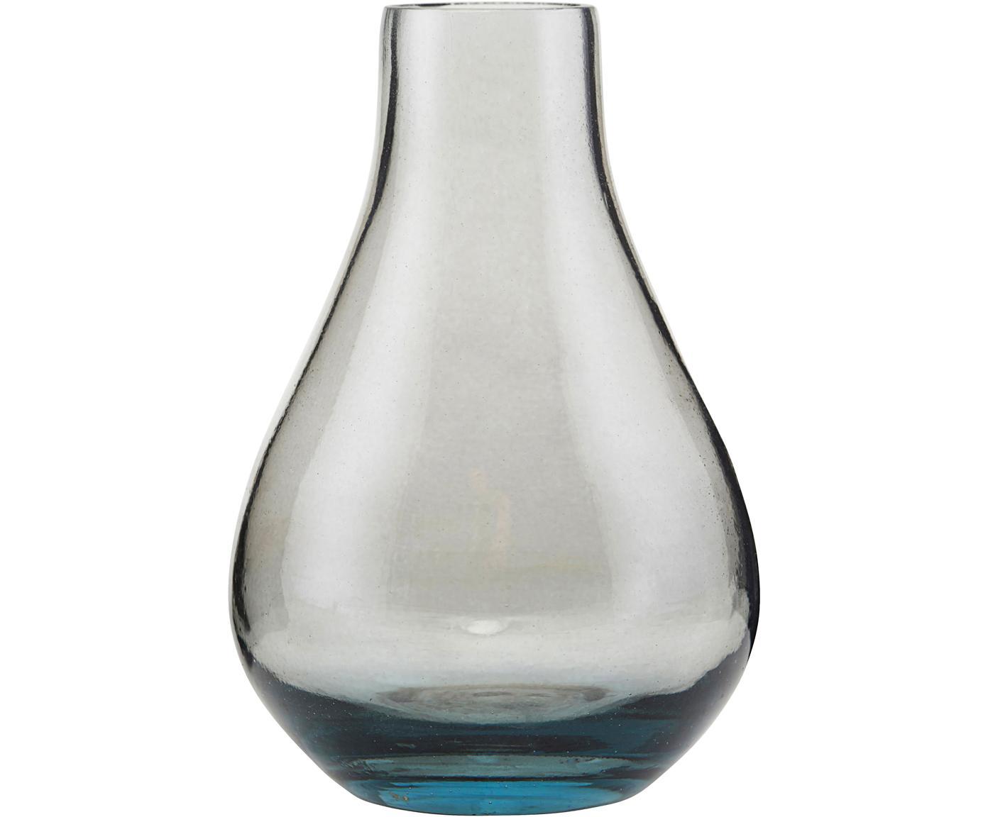 Glas-Vase Sandra, Glas, Grau, transparent, Ø 7 x H 11 cm