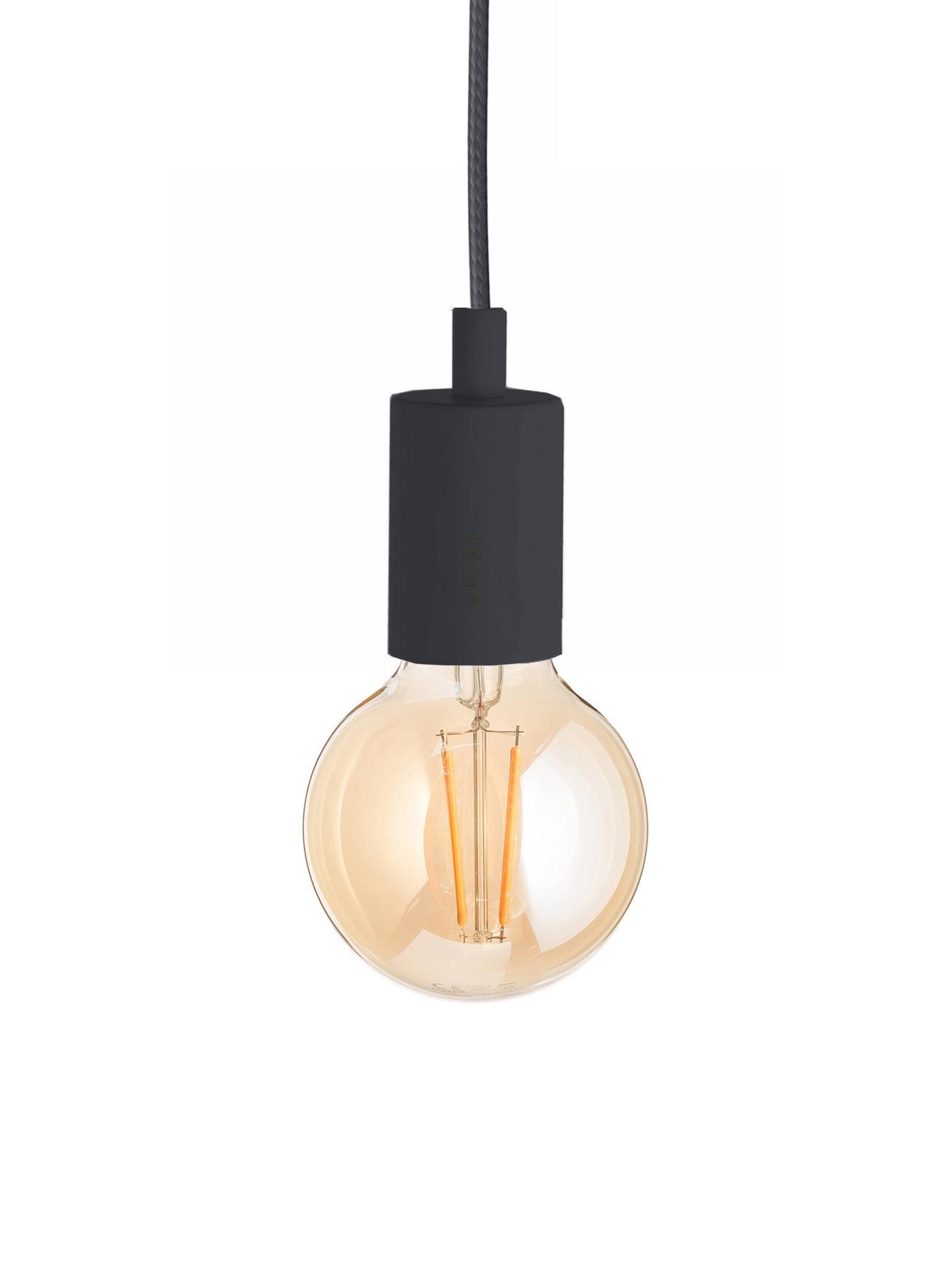 Lampada a sospensione Color, Nero, Ø 5 x Alt. 6 cm