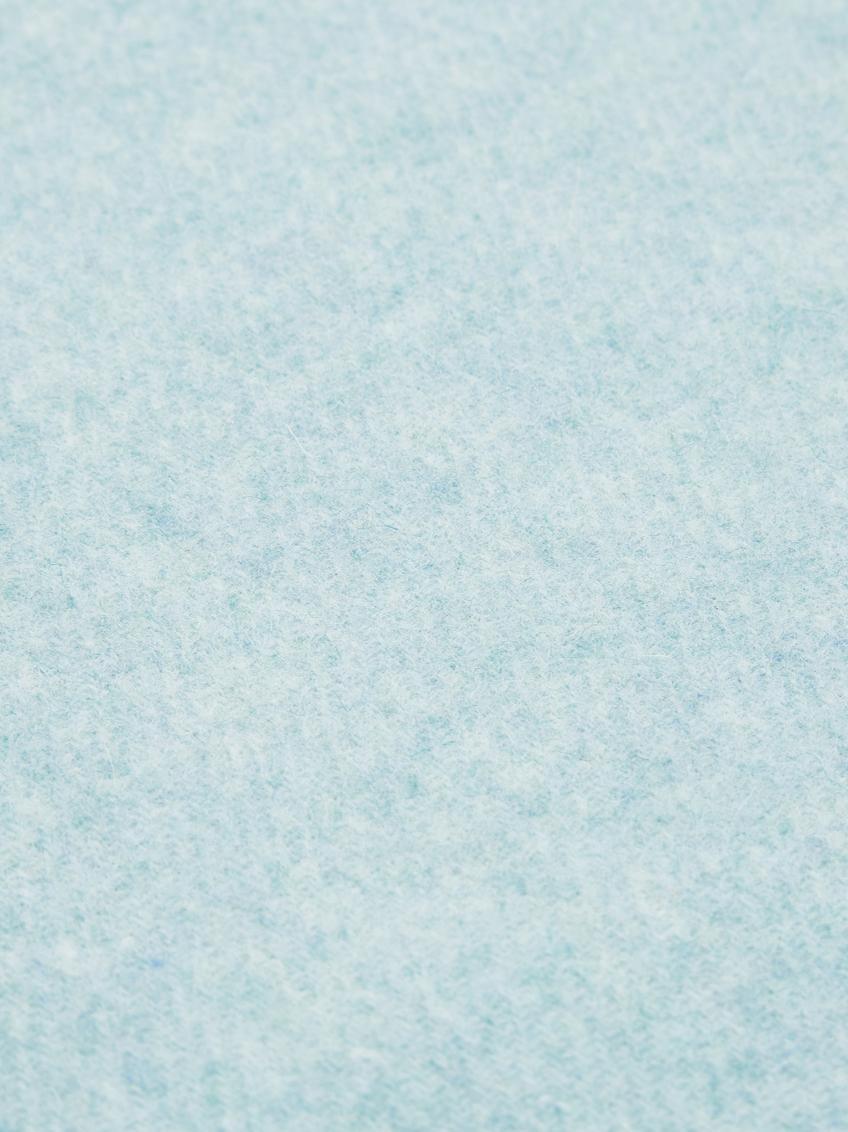 Leichtes Wollplaid Patriciu mit Fransenabschluss, 100% Wolle, Grünblau, 130 x 170 cm