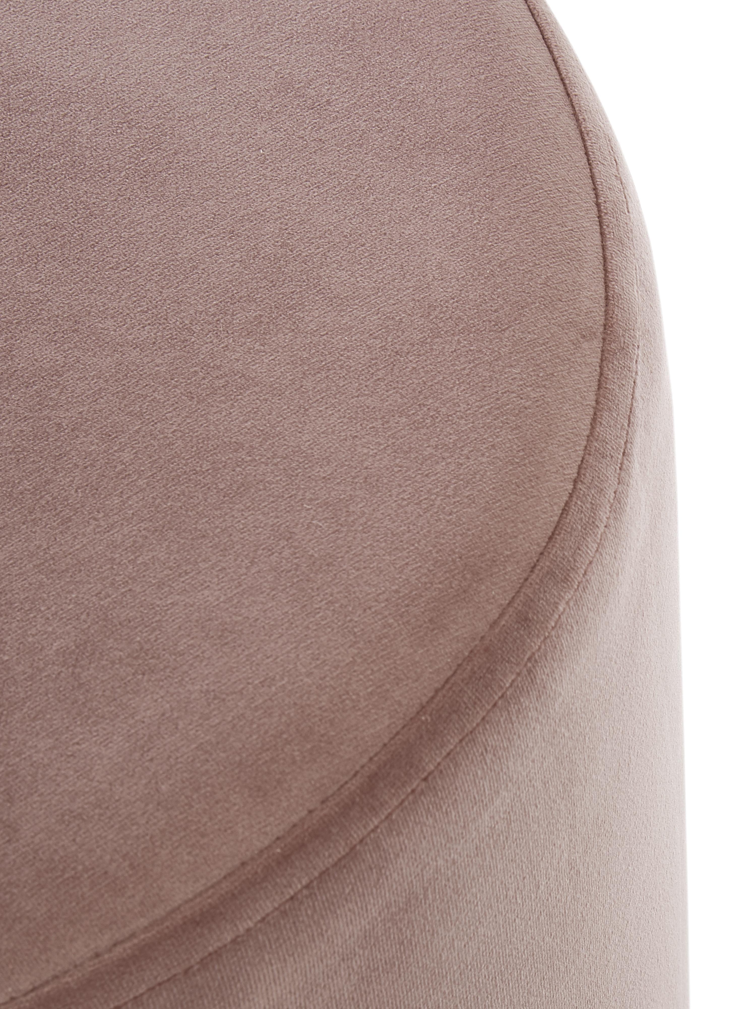Samt-Hocker Daisy, Bezug: Samt (Polyester) Der hoch, Rahmen: Sperrholz, Samt Rosa, Ø 38 x H 45 cm