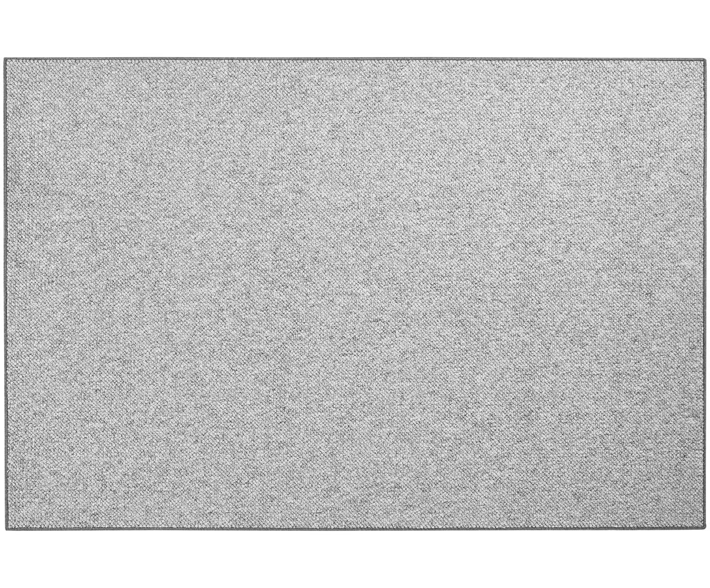 Vloerkleed Lyon met lussenpool, Bovenzijde: polypropyleen, Onderzijde: vlies, Gemengd grijs, B 100 x L 140 cm (maat XS)