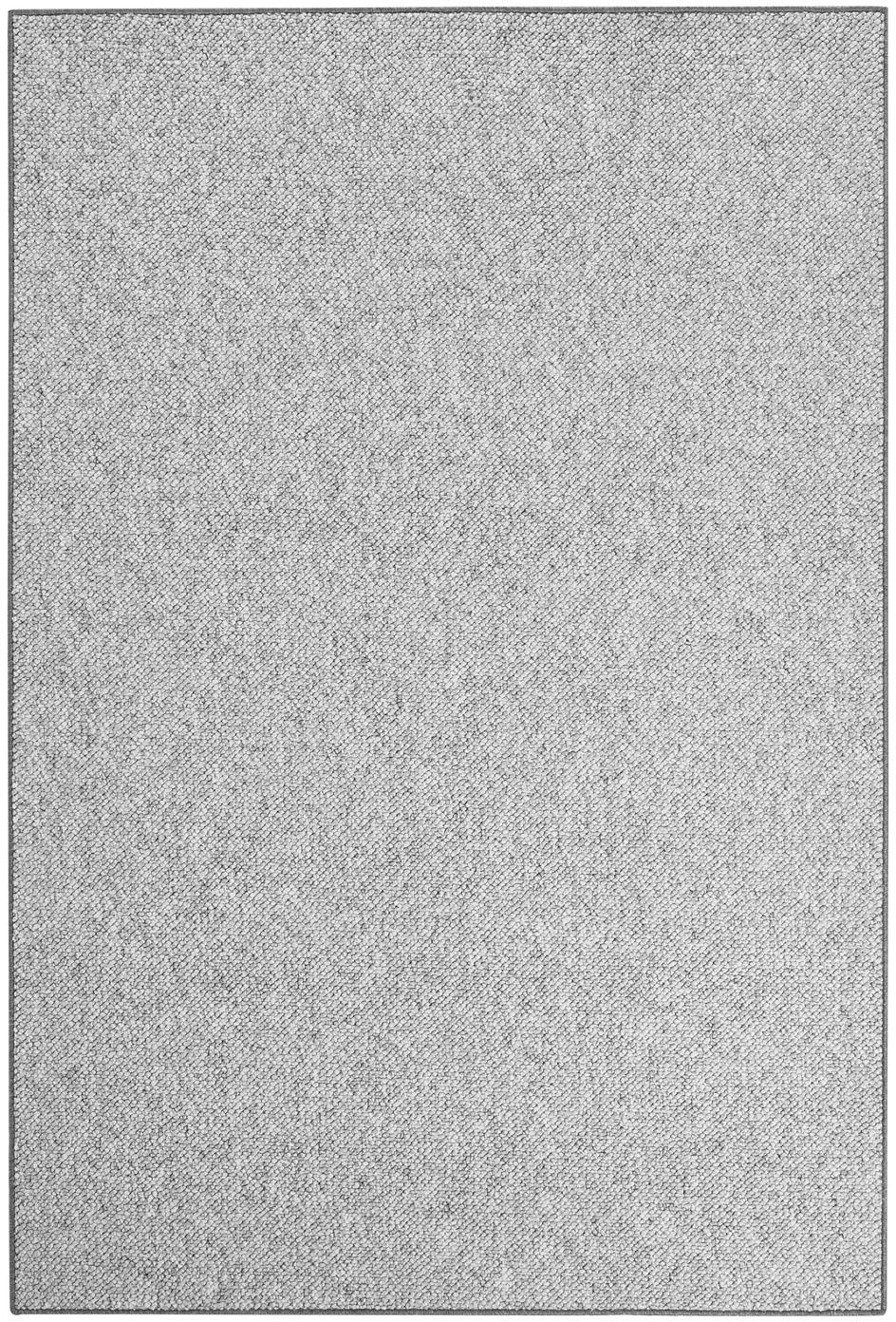 Vloerkleed Lyon met lussenpool, Bovenzijde: 100% polypropyleen, Onderzijde: vlies, Gemengd grijs, B 100 x L 140 cm (maat XS)