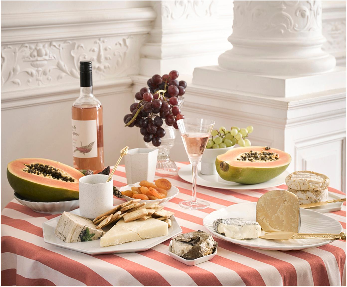 Goldfarbenes Käsemesser-Set Cheese aus Edelstahl, 3-teilig, Messer: Edelstahl, vermessingt, Dekor: Perlmutt, Messing, Sondergrößen