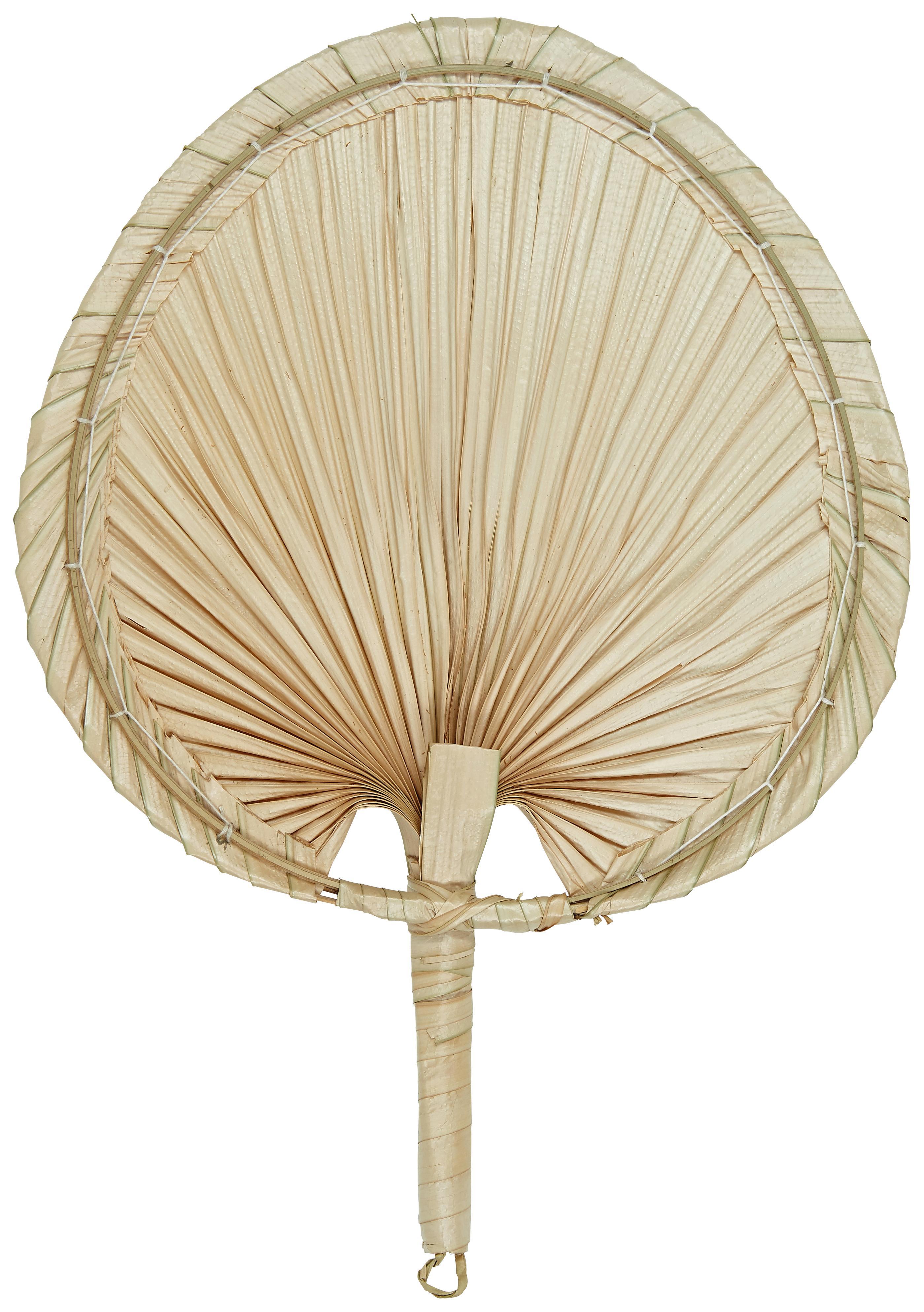 Wandobjekt Seam aus Palmfasern, Palmfasern, Hellbraun, 29 x 37 cm