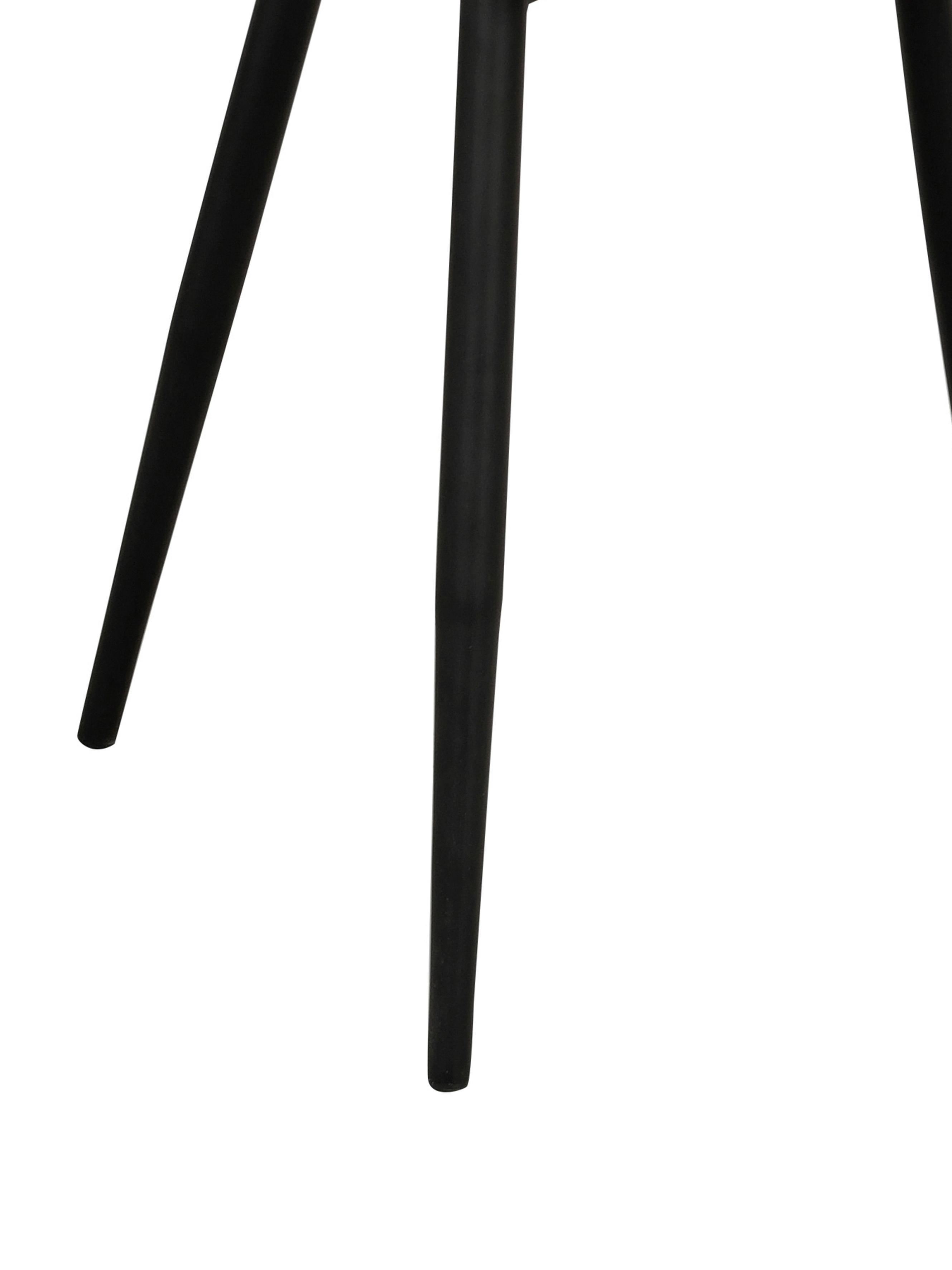 Chaises rembourrées en velours Sierra, 2pièces, Gris, noir