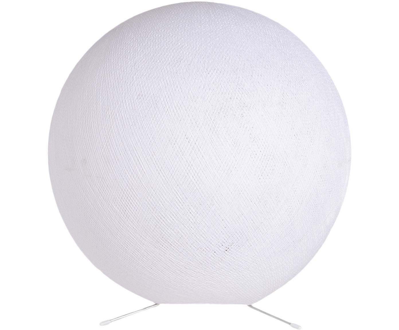 Tischleuchte Colorain, Lampenschirm: Polyester, Lampenfuß: Metall, Weiß, Ø 36 cm