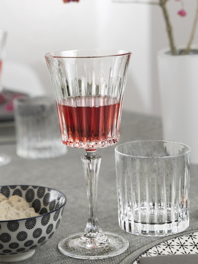Verres à whisky en cristal à rainuresTimeless, 6pièces, Transparent