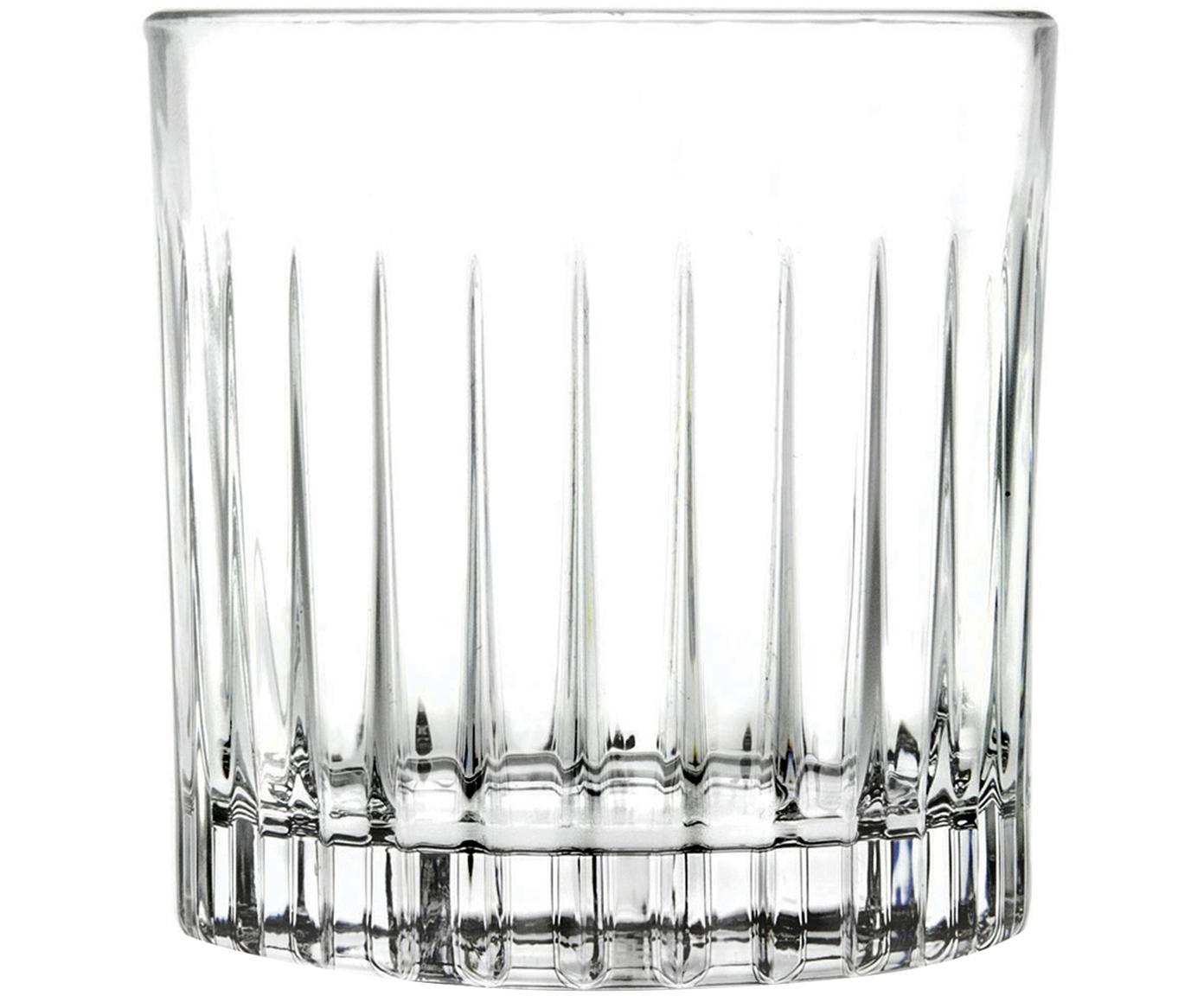 Vasos old fashioned de cristal Timeless, 6uds., Cristal, Transparente, Ø 9 x Al 9 cm