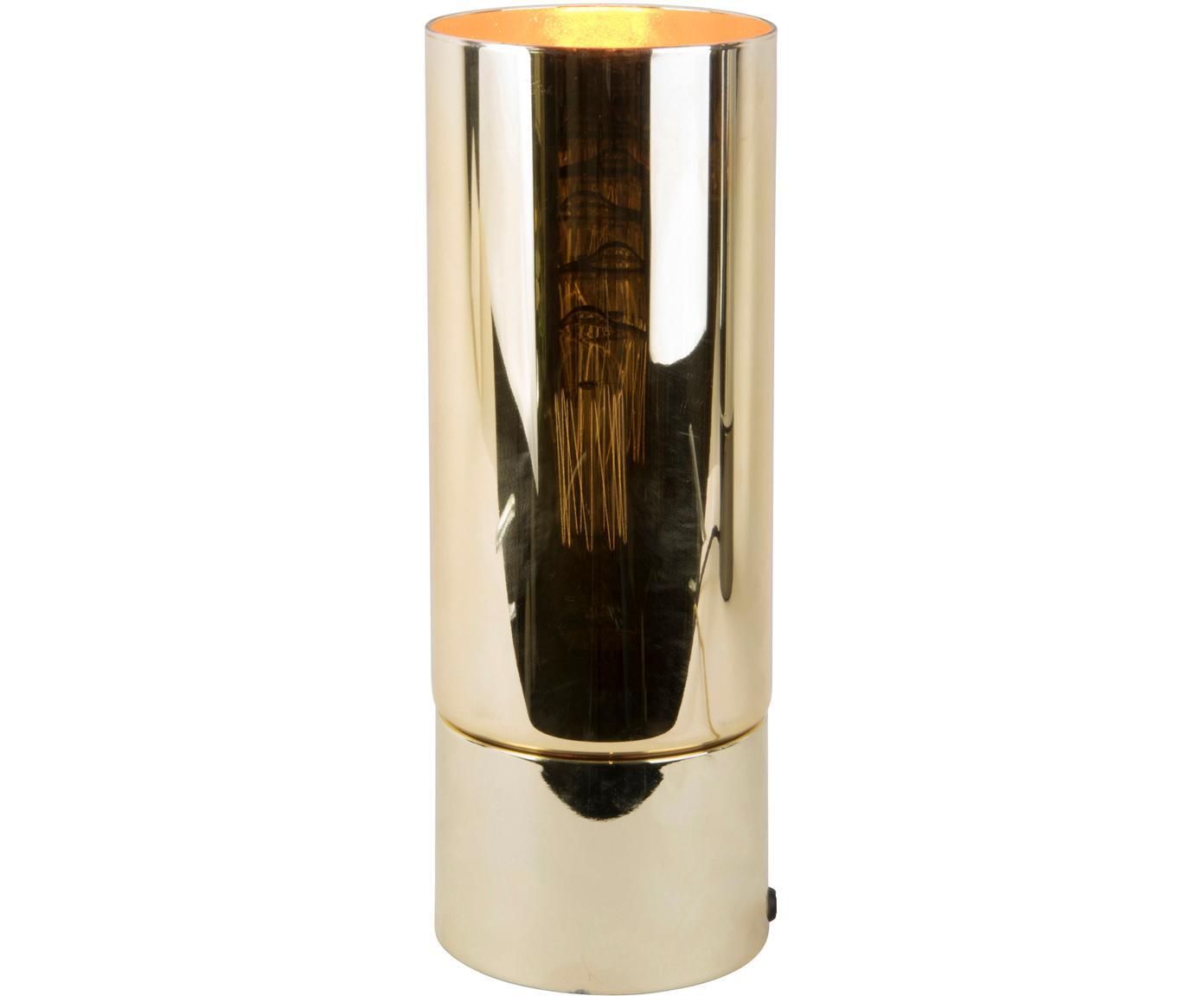 Tischleuchte Lax, Glas, Metall, Goldfarben, Ø 12 x H 32 cm