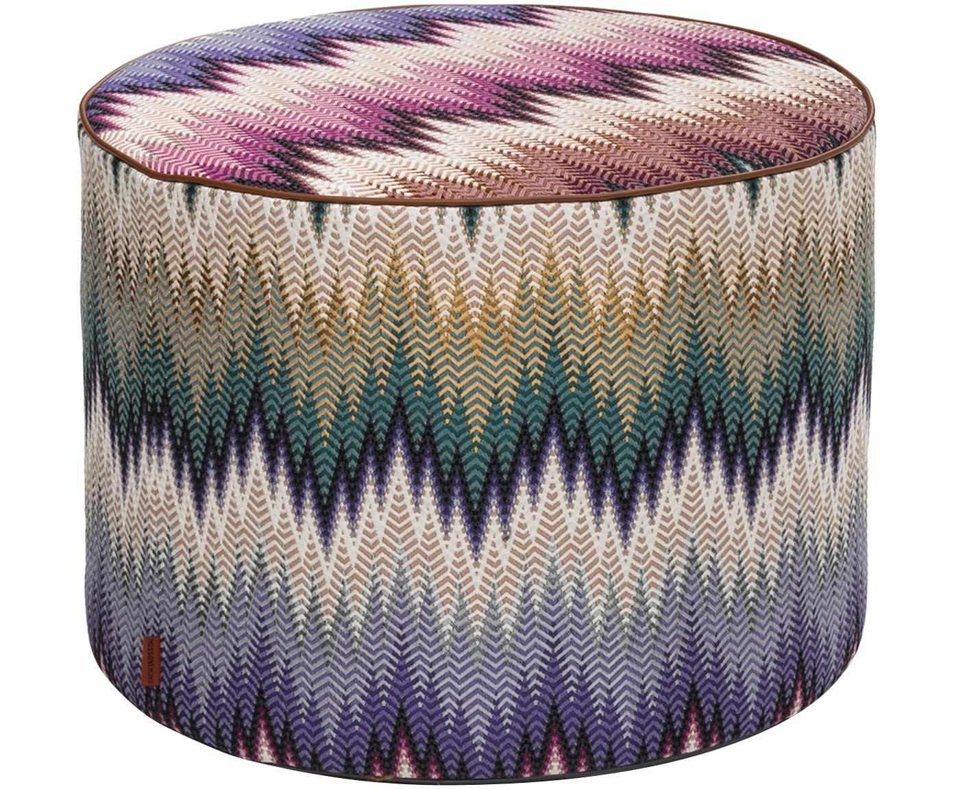 Pouf  di design Phrae, Rivestimento: 57% cotone, 26% poliester, Multicolore, Ø 40 x Alt. 30 cm